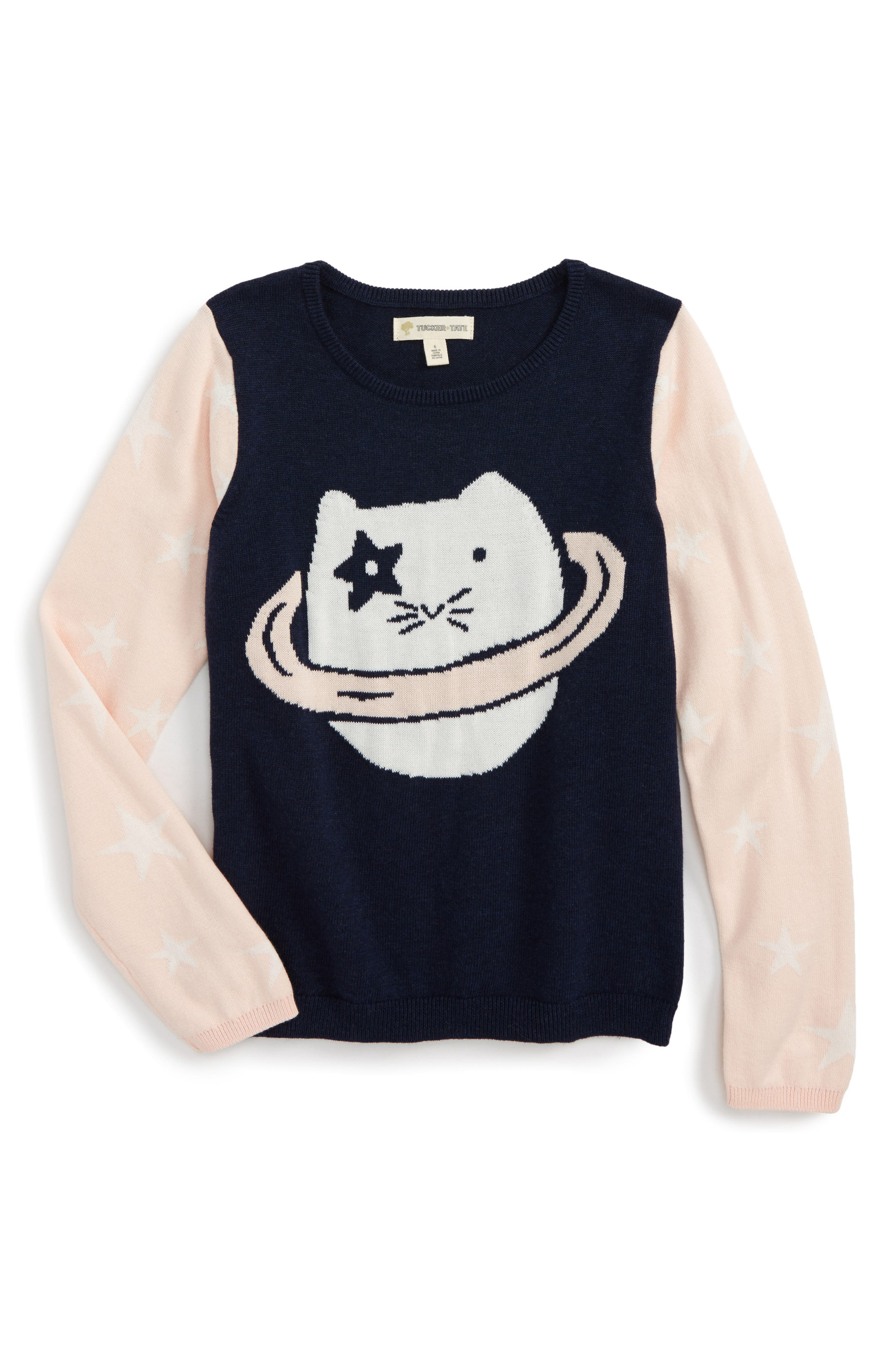 Pattern Mix Sweater,                         Main,                         color, Navy Peacoat Heather Space Cat
