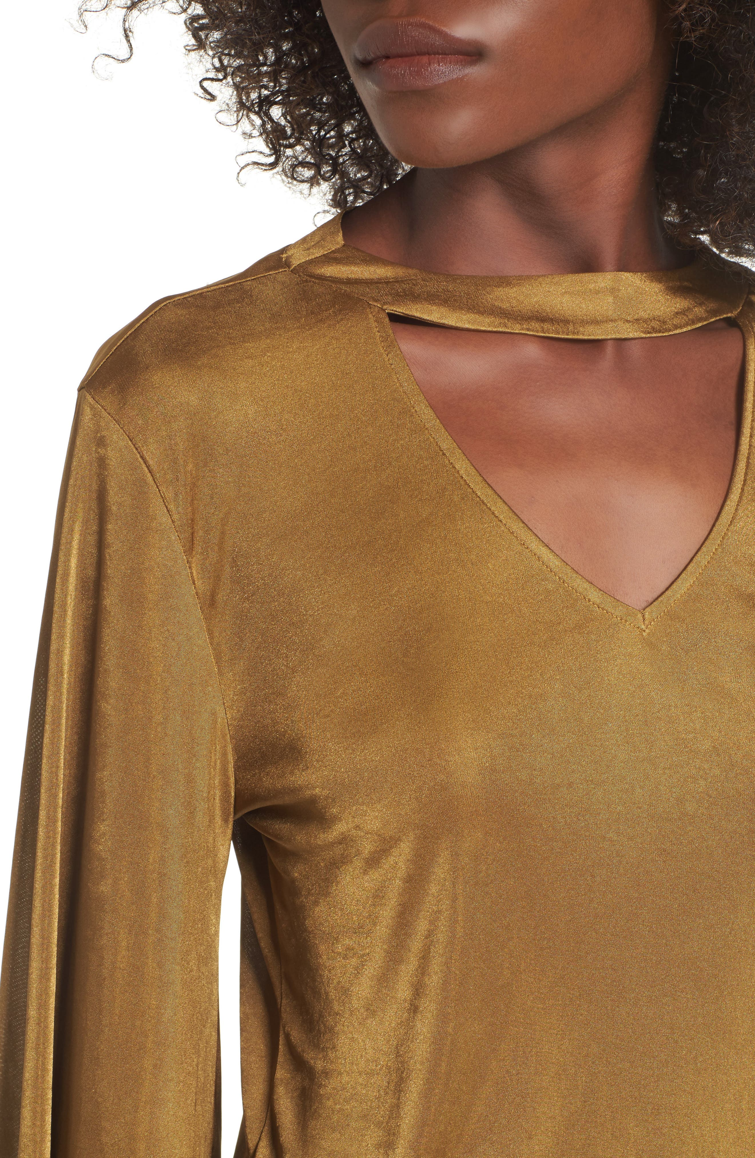 Alternate Image 4  - Leith Choker Bell Sleeve Top