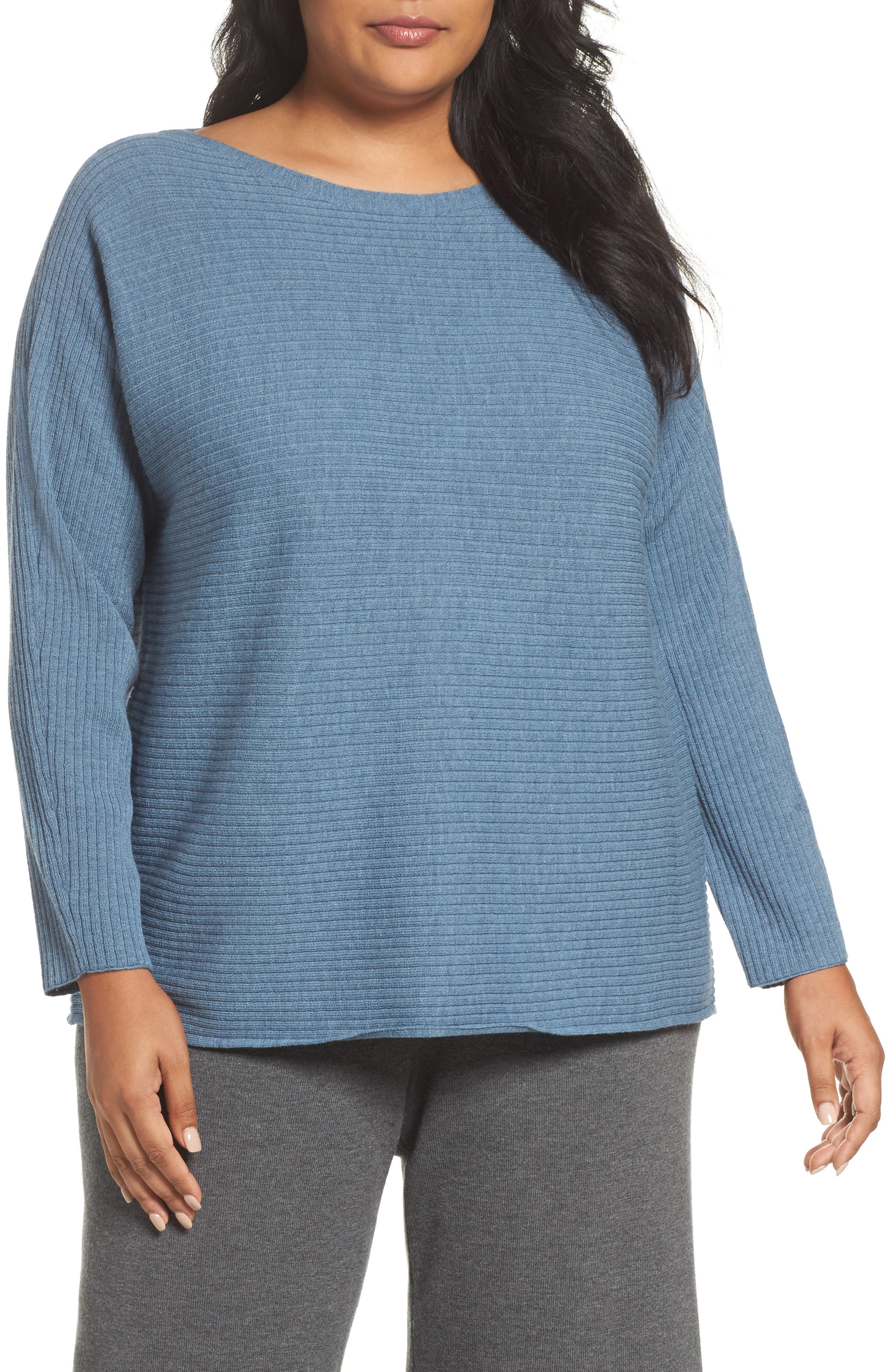 Eileen Fisher Ribbed Wool Sweater (Plus Size)
