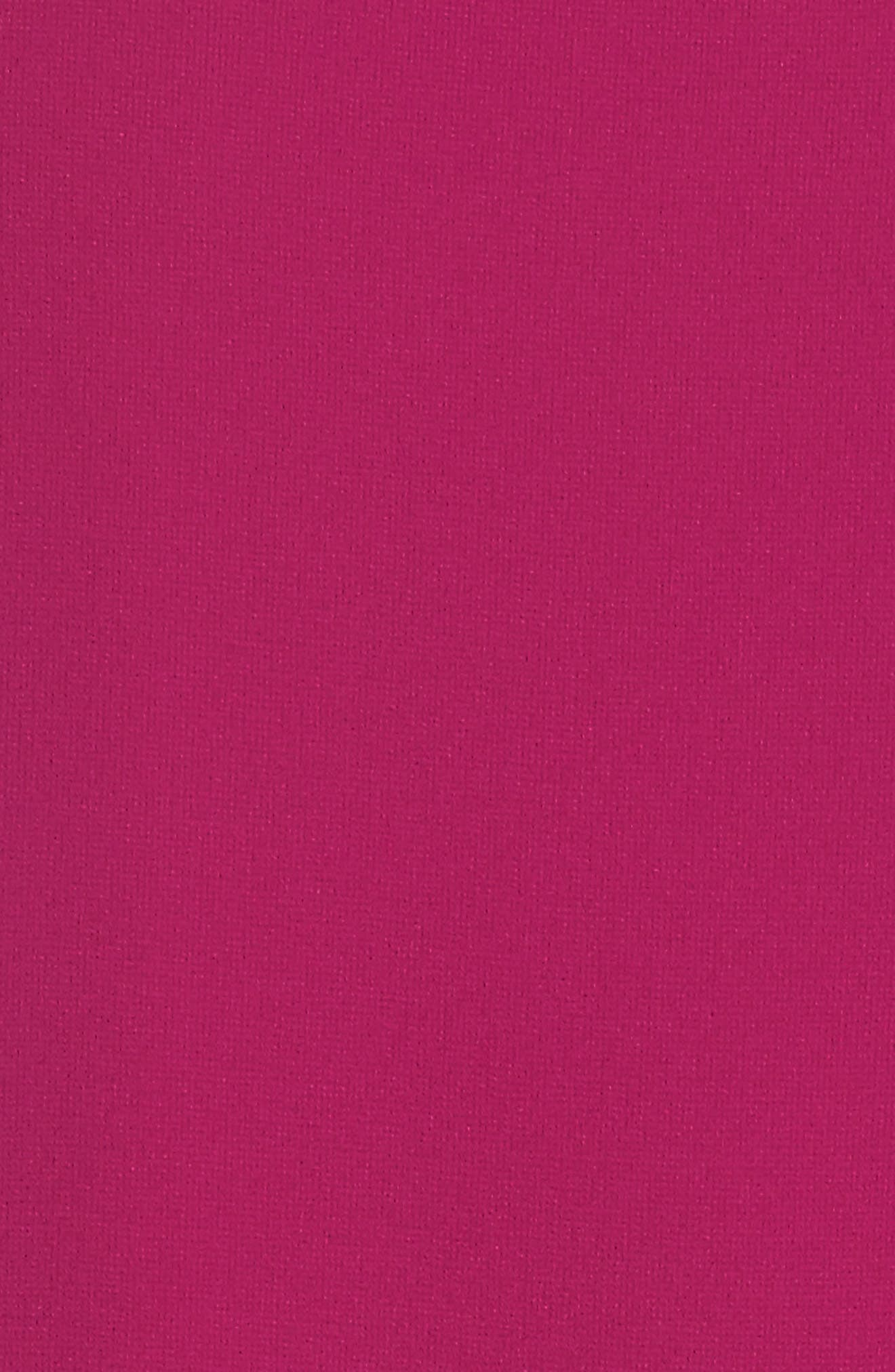 Ruffle Chiffon Shift Dress,                             Alternate thumbnail 5, color,                             Magenta
