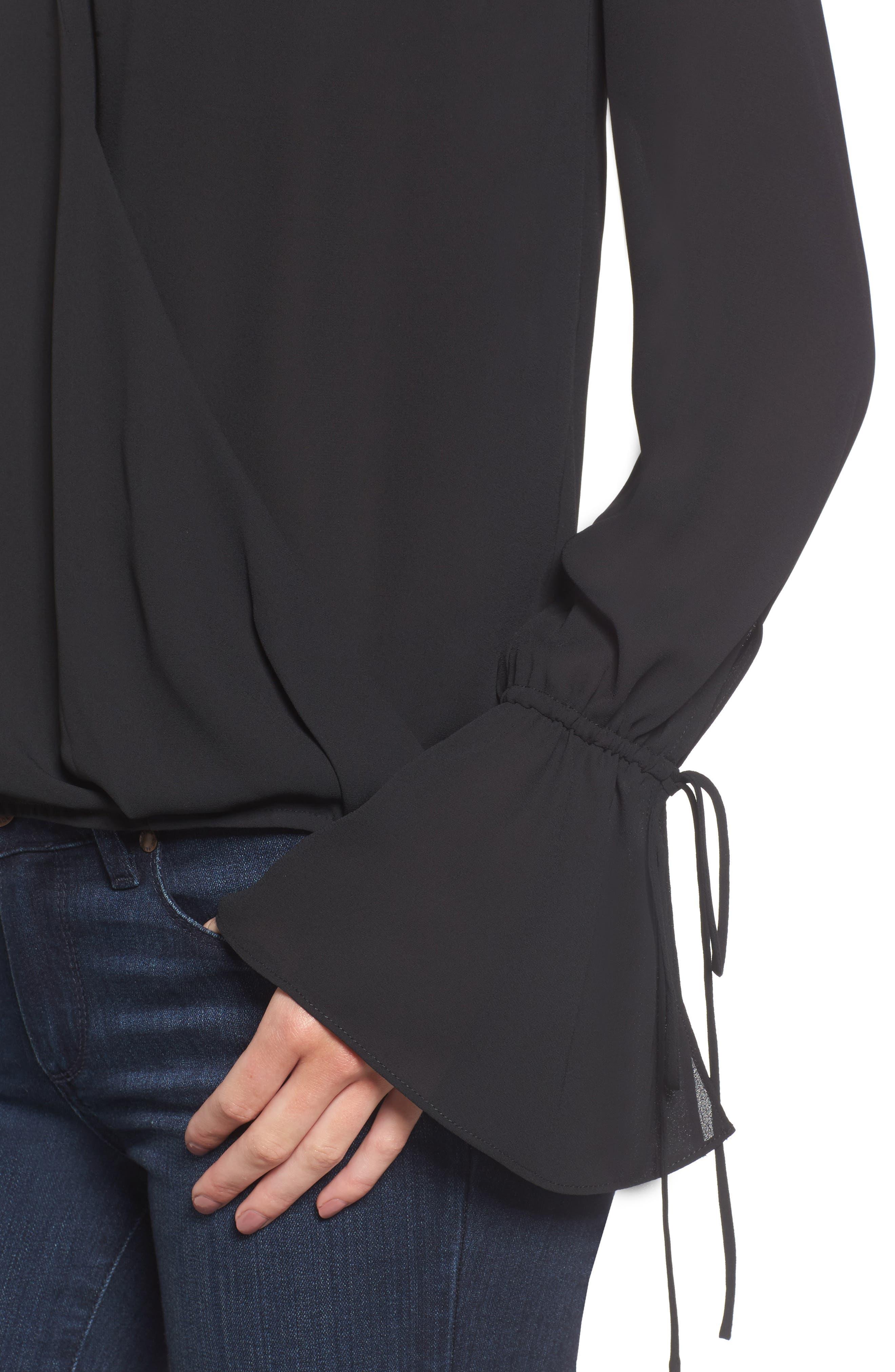 Alternate Image 4  - Trouvé Surplice Tie Sleeve Top