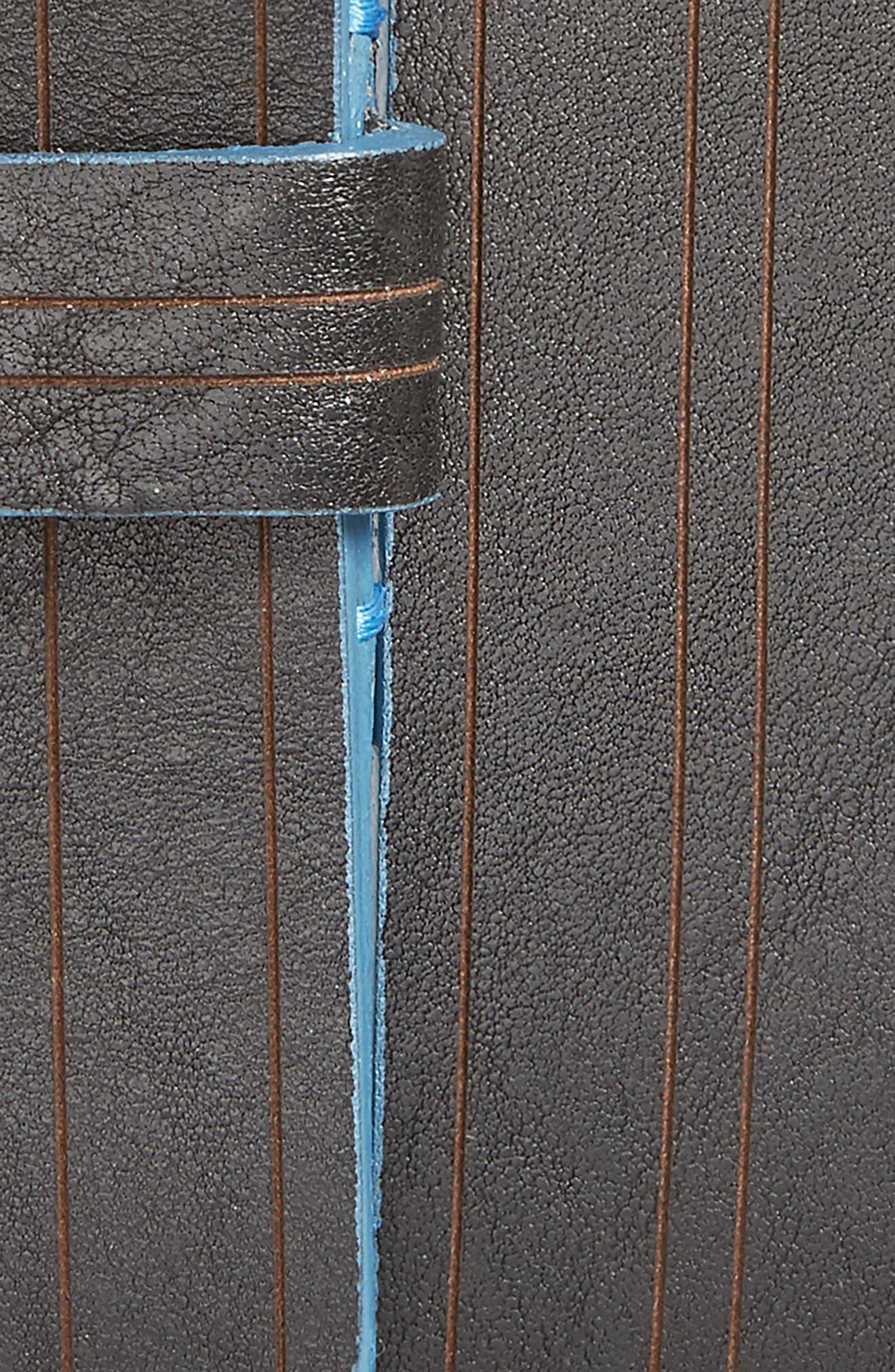 Magno Leather Belt,                             Alternate thumbnail 2, color,                             Black