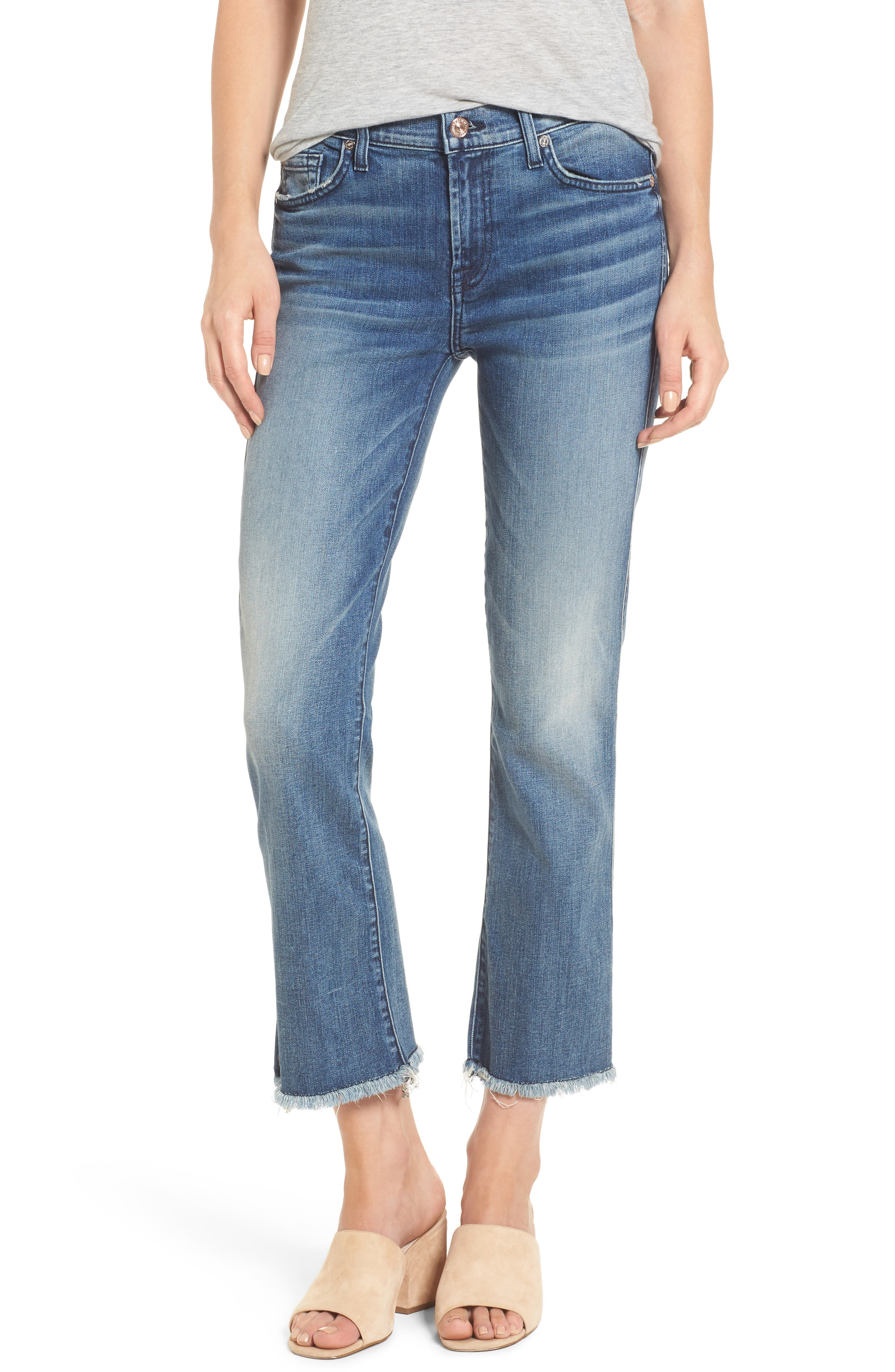 Main Image - 7 For All Mankind® Crop Bootcut Jeans (Wall Street Heritage)