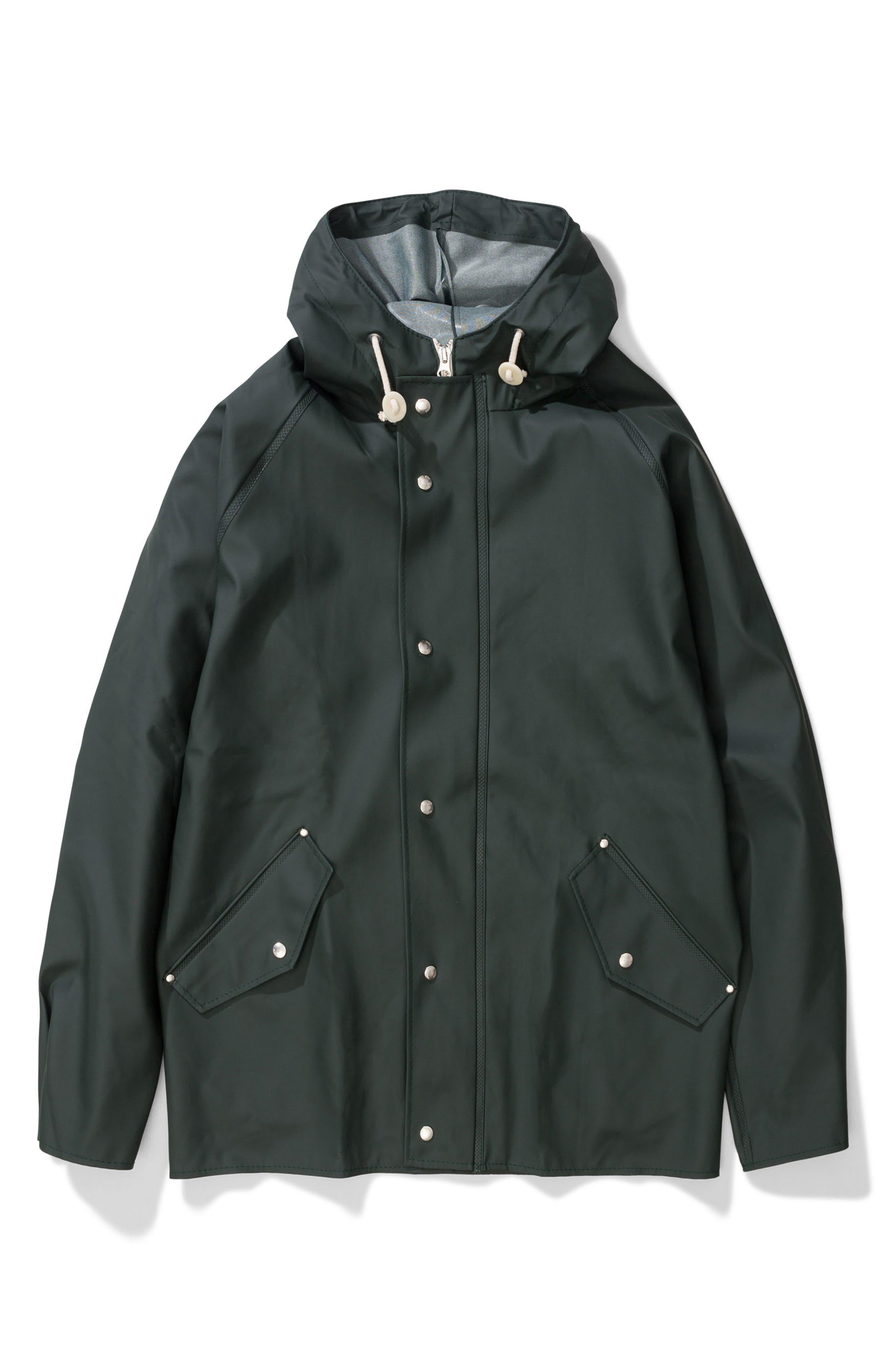 Waterproof Rain Jacket,                             Alternate thumbnail 12, color,                             Moss