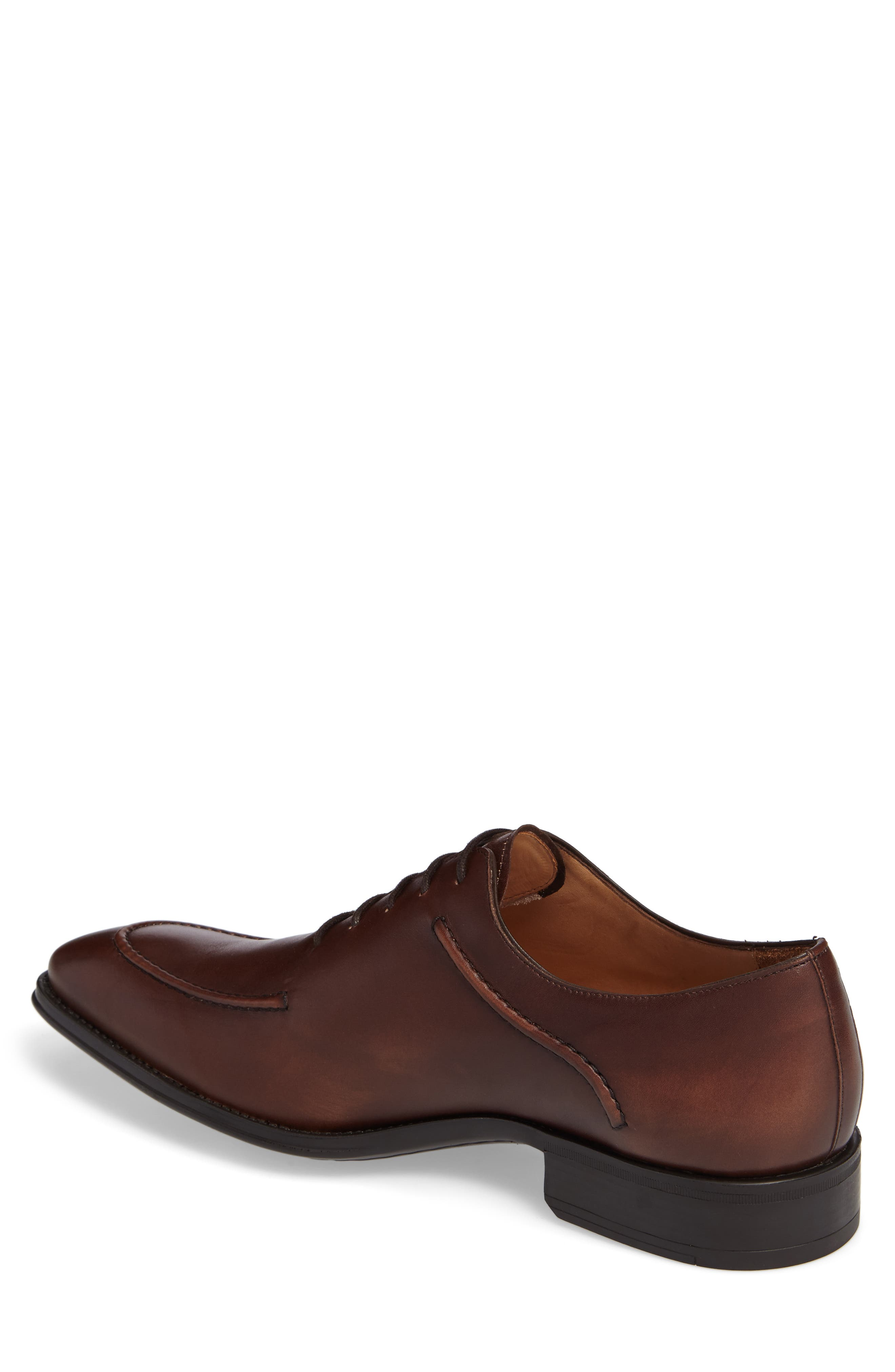 Velez Moc Toe Oxford,                             Alternate thumbnail 2, color,                             Brown Leather