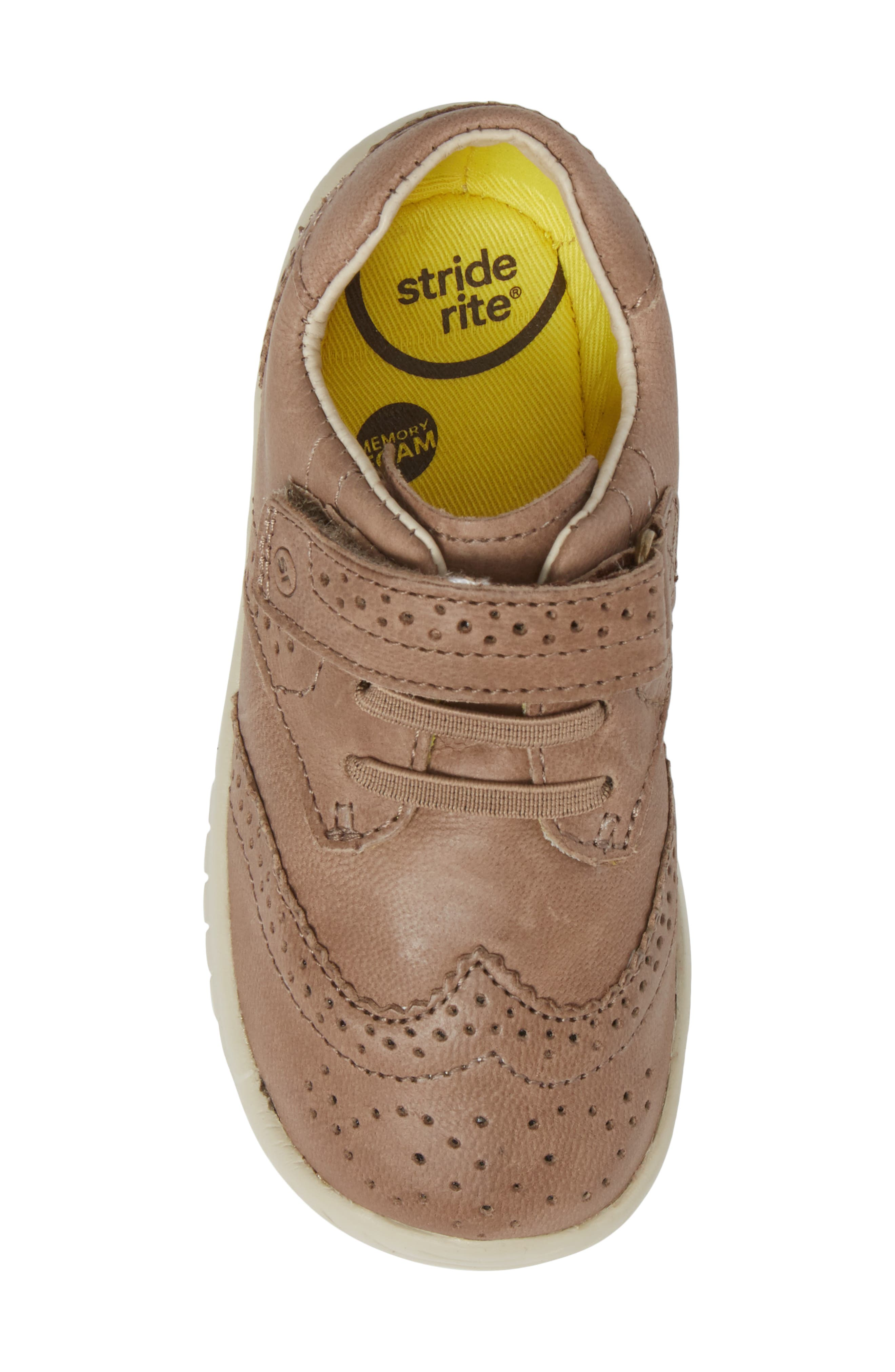 Alternate Image 5  - Stride Rite Addison Wingtip Sneaker (Baby, Walker & Toddler)