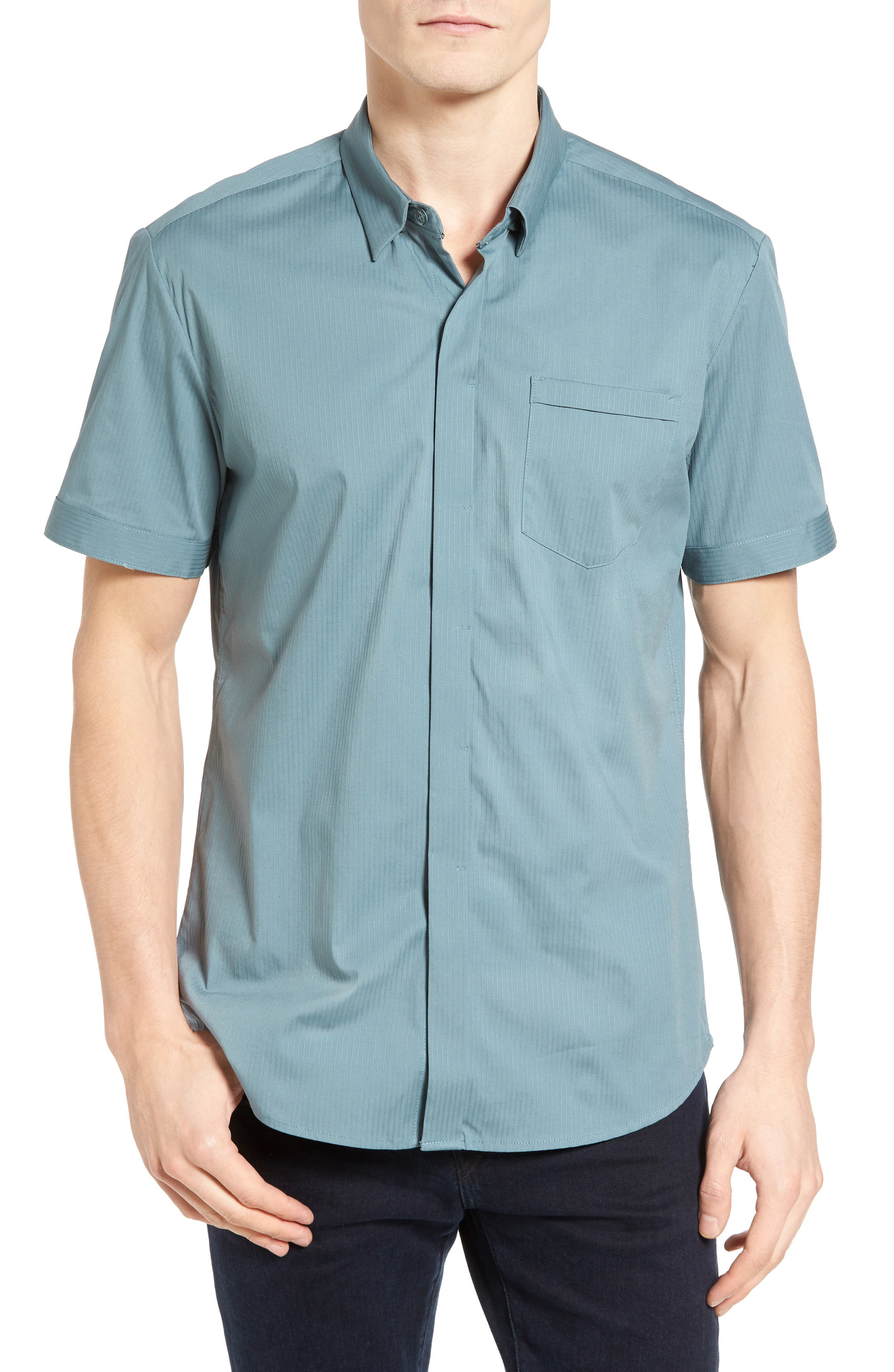 City Savior Woven Shirt,                         Main,                         color, Stormy Sea