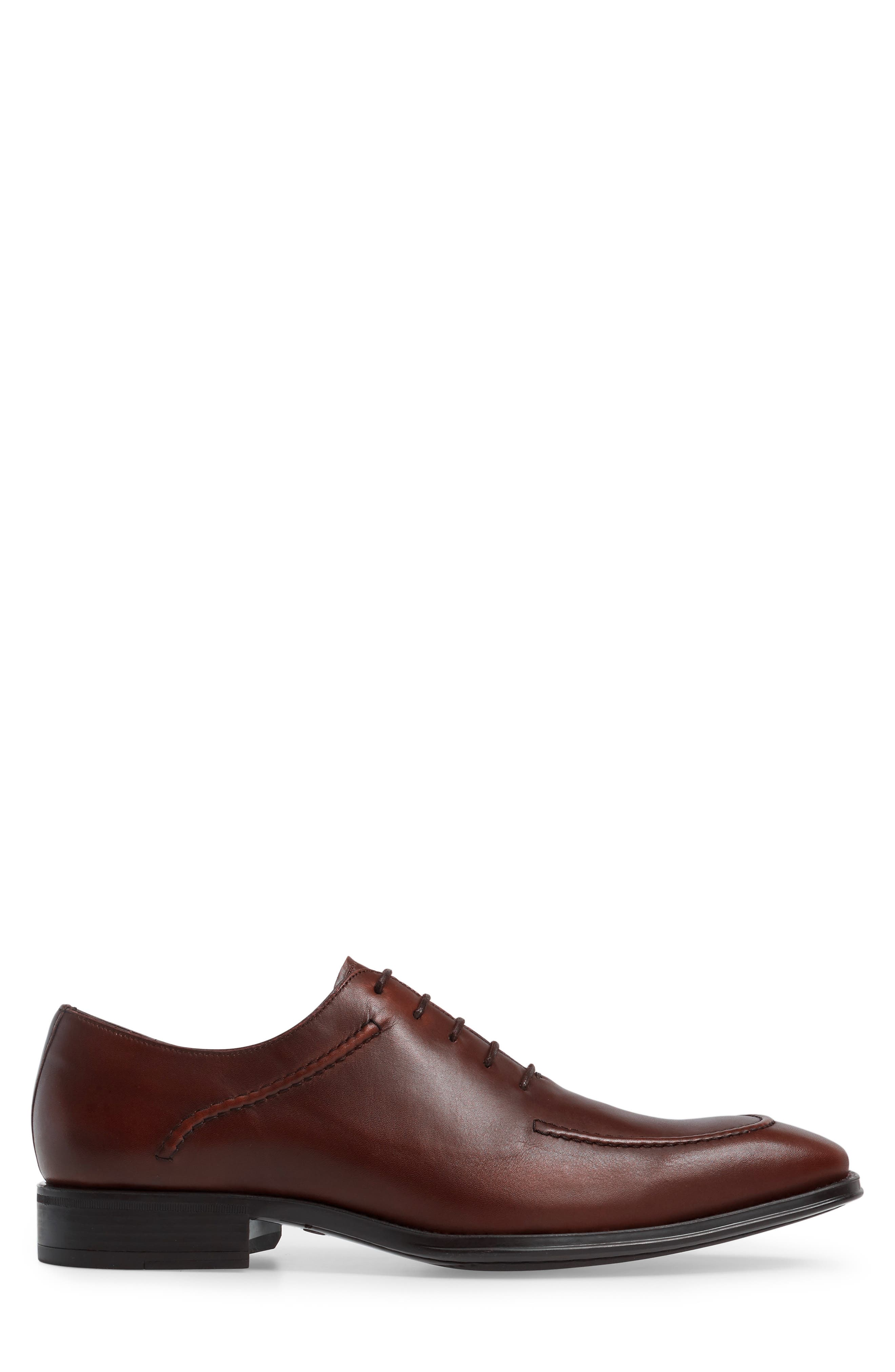 Velez Moc Toe Oxford,                             Alternate thumbnail 3, color,                             Brown Leather