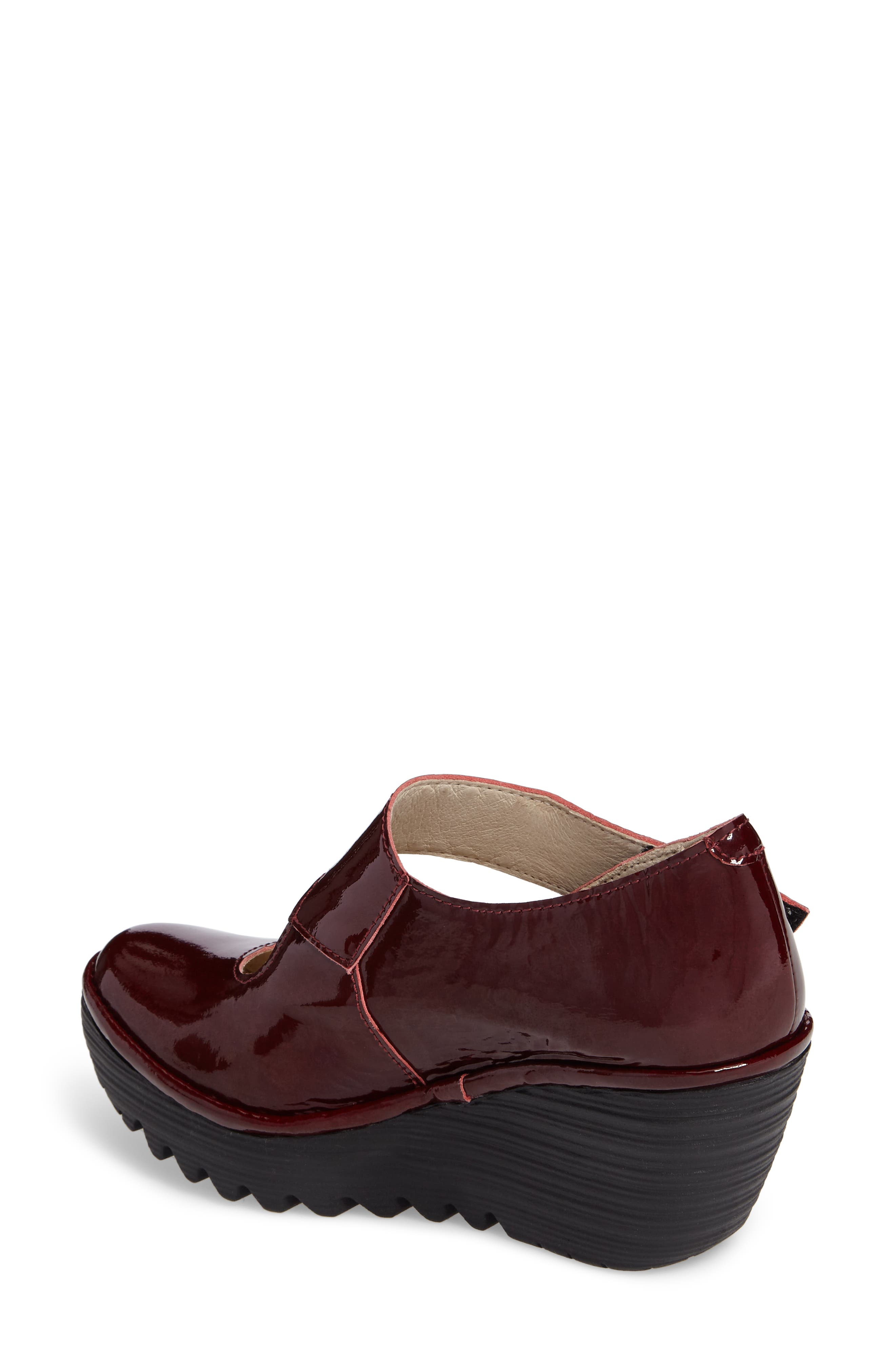 'Yasi' Wedge Pump,                             Alternate thumbnail 2, color,                             Cordoba Red Leather