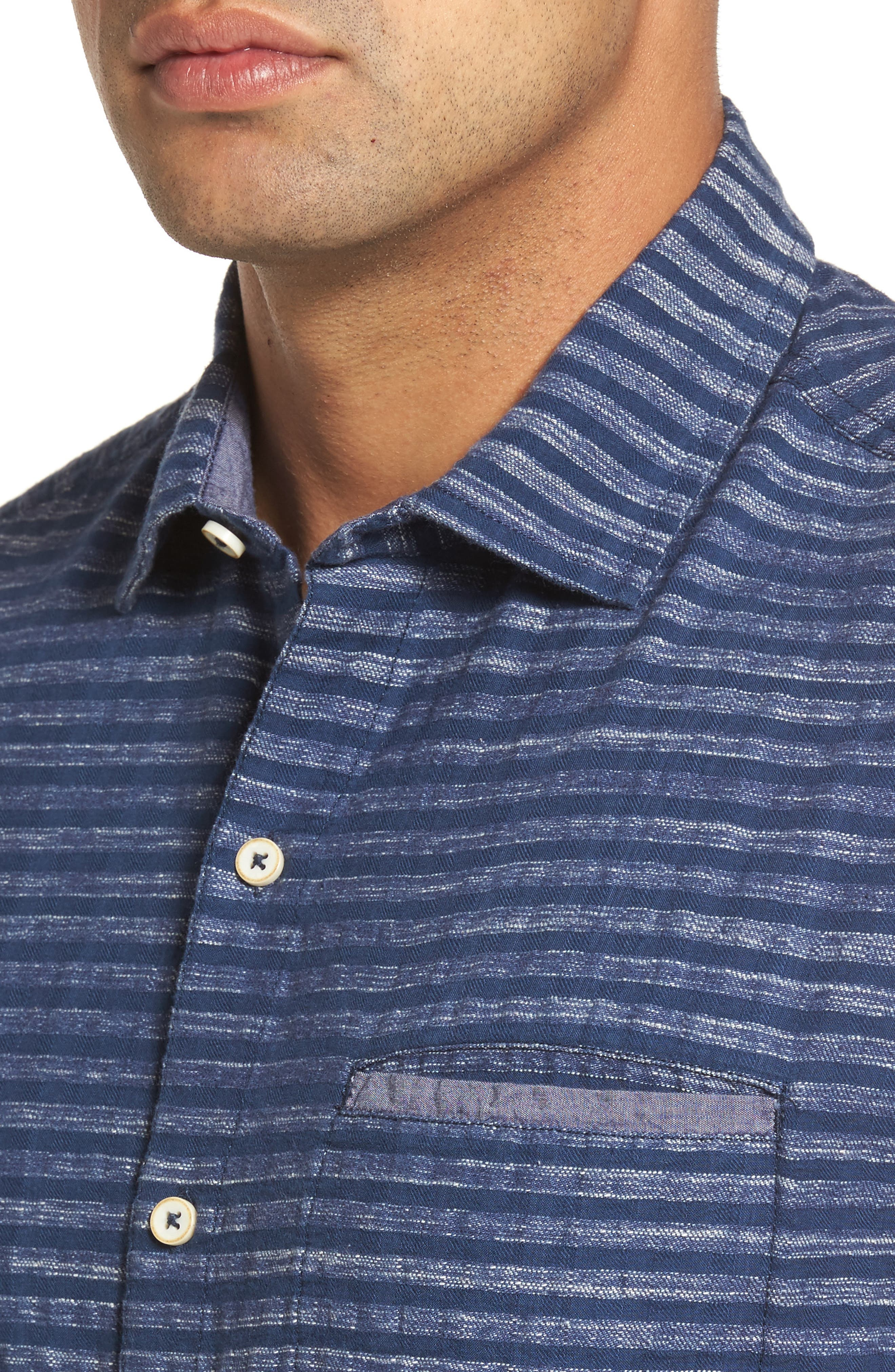 Alternate Image 4  - Tommy Bahama Seaway Stripe Standard Fit Sport Shirt