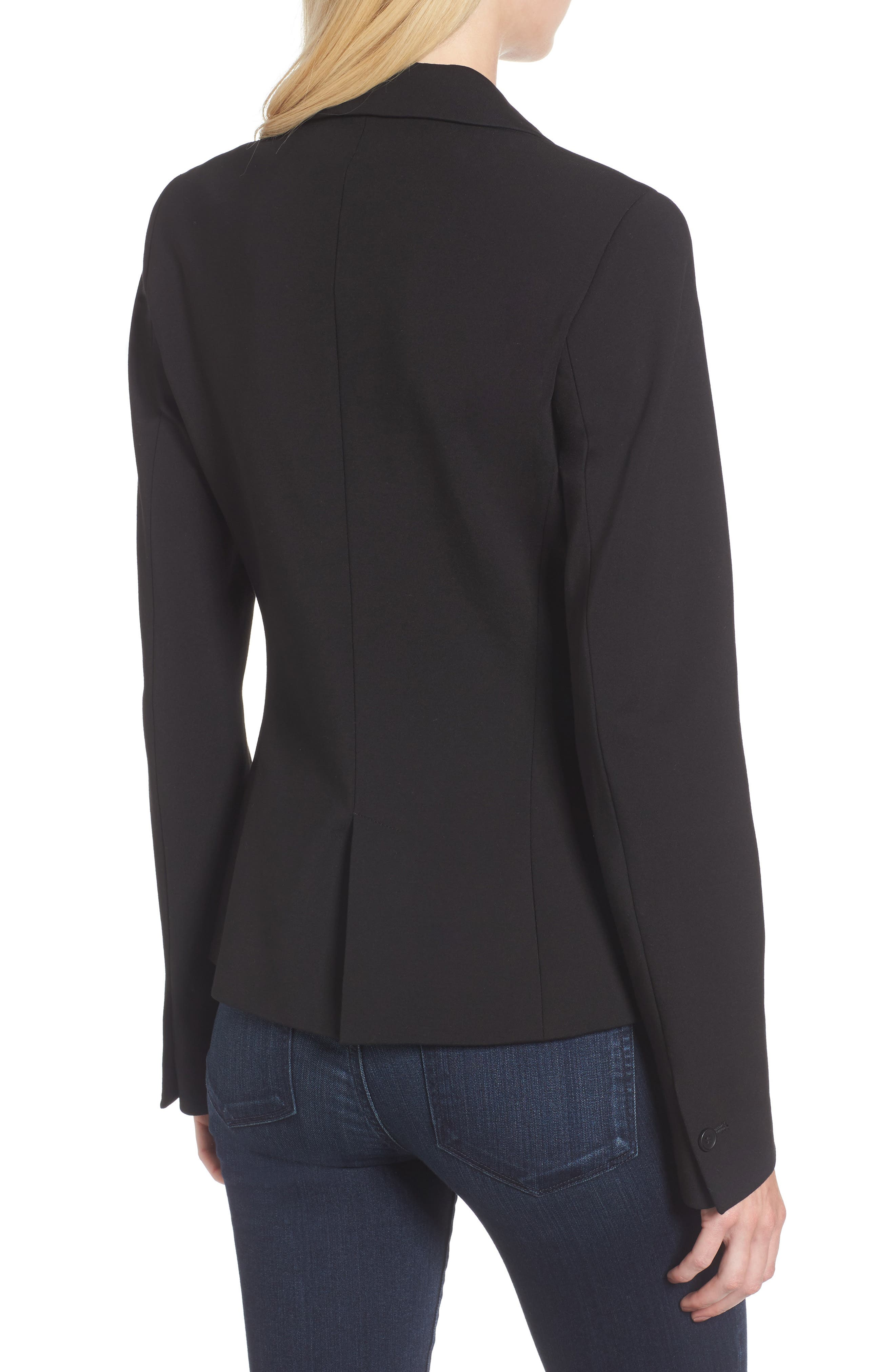 C-Suite Ponte Blazer,                             Alternate thumbnail 2, color,                             Black