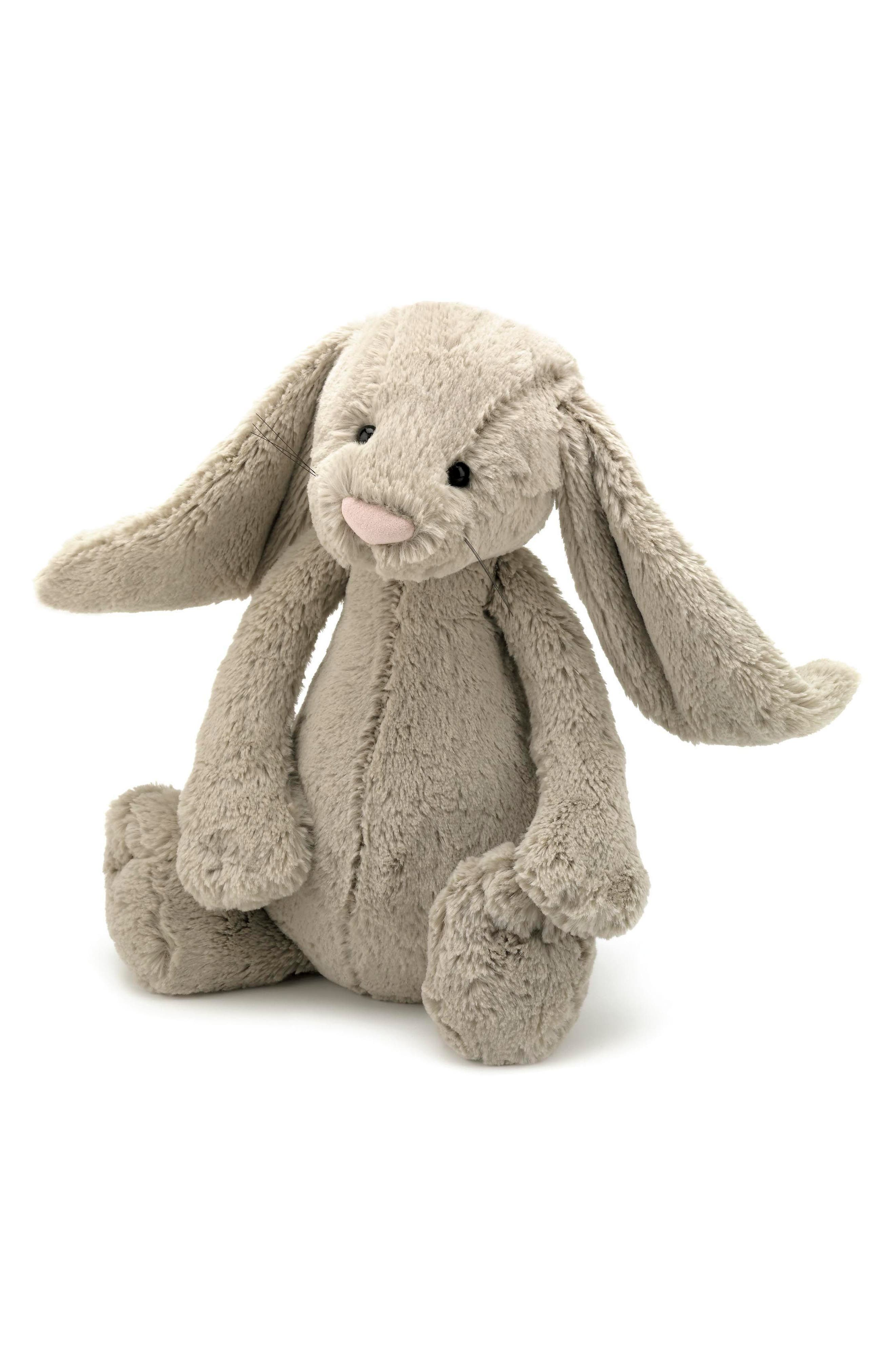 'Large Bashful Bunny' Stuffed Animal,                         Main,                         color, Beige