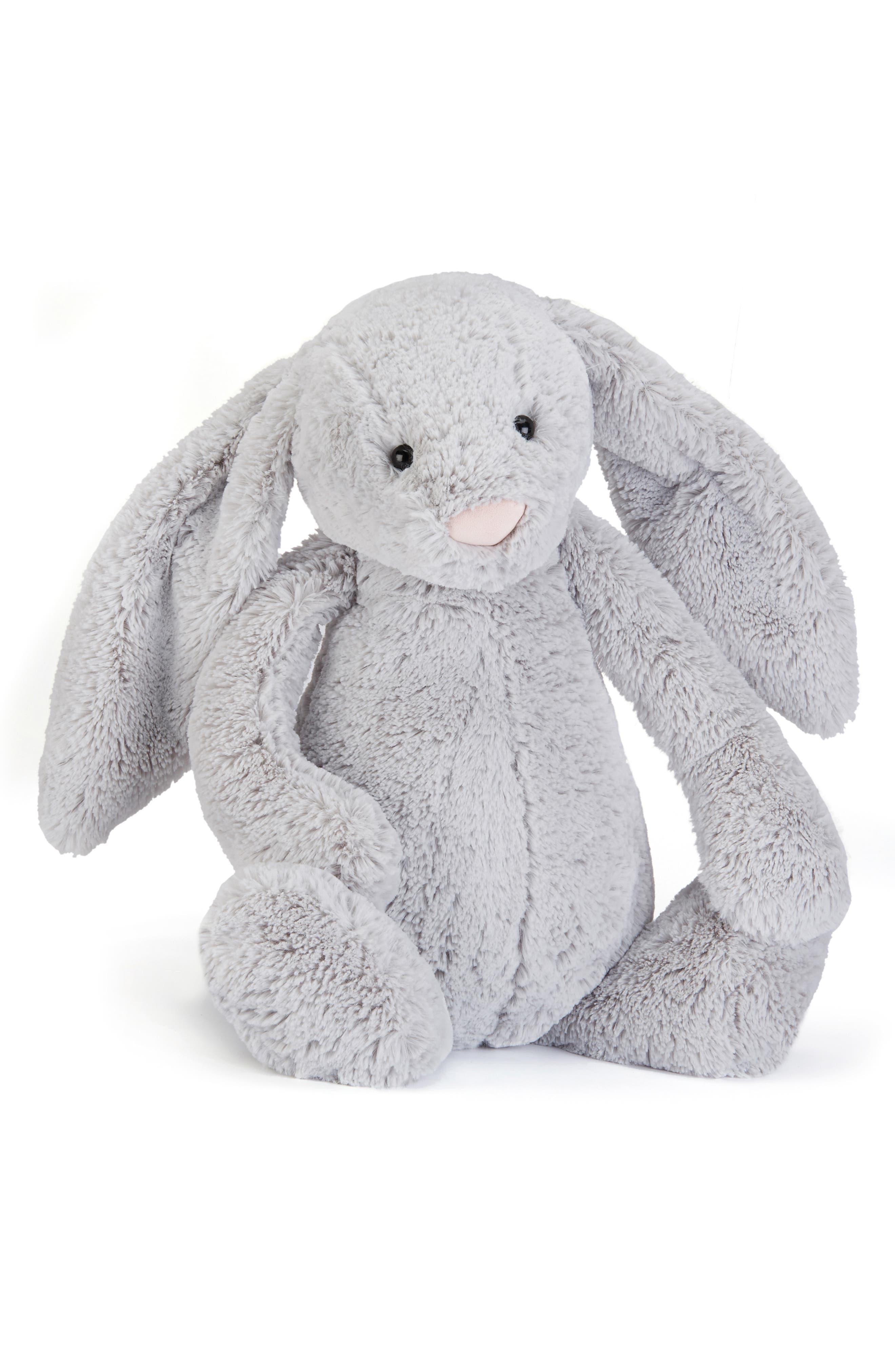 Bunny Stuffed Animal,                             Main thumbnail 1, color,                             Grey