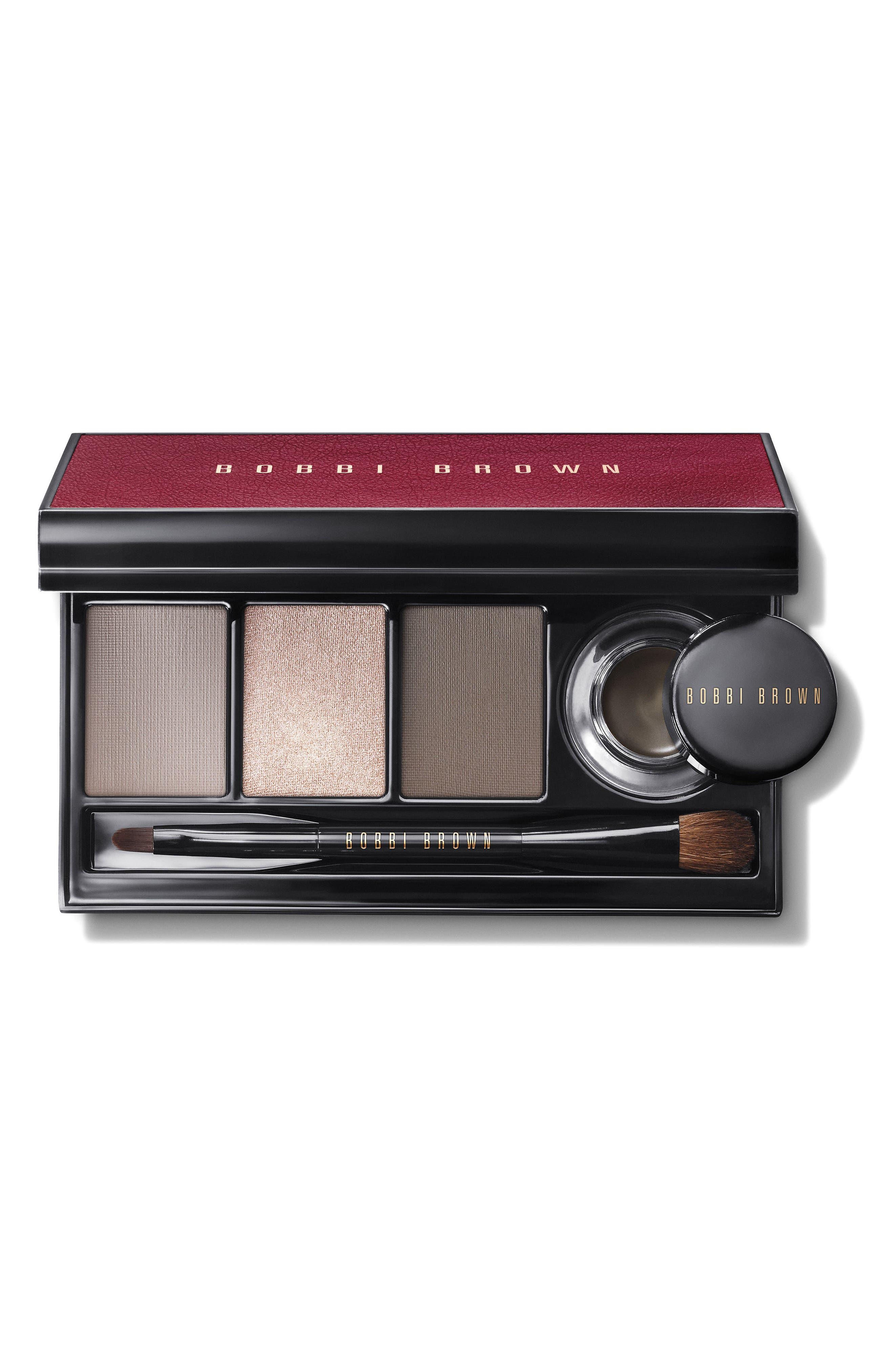 Satin & Caviar Eyeshadow & Long-Wear Gel Eyeliner Palette,                         Main,                         color, No Color