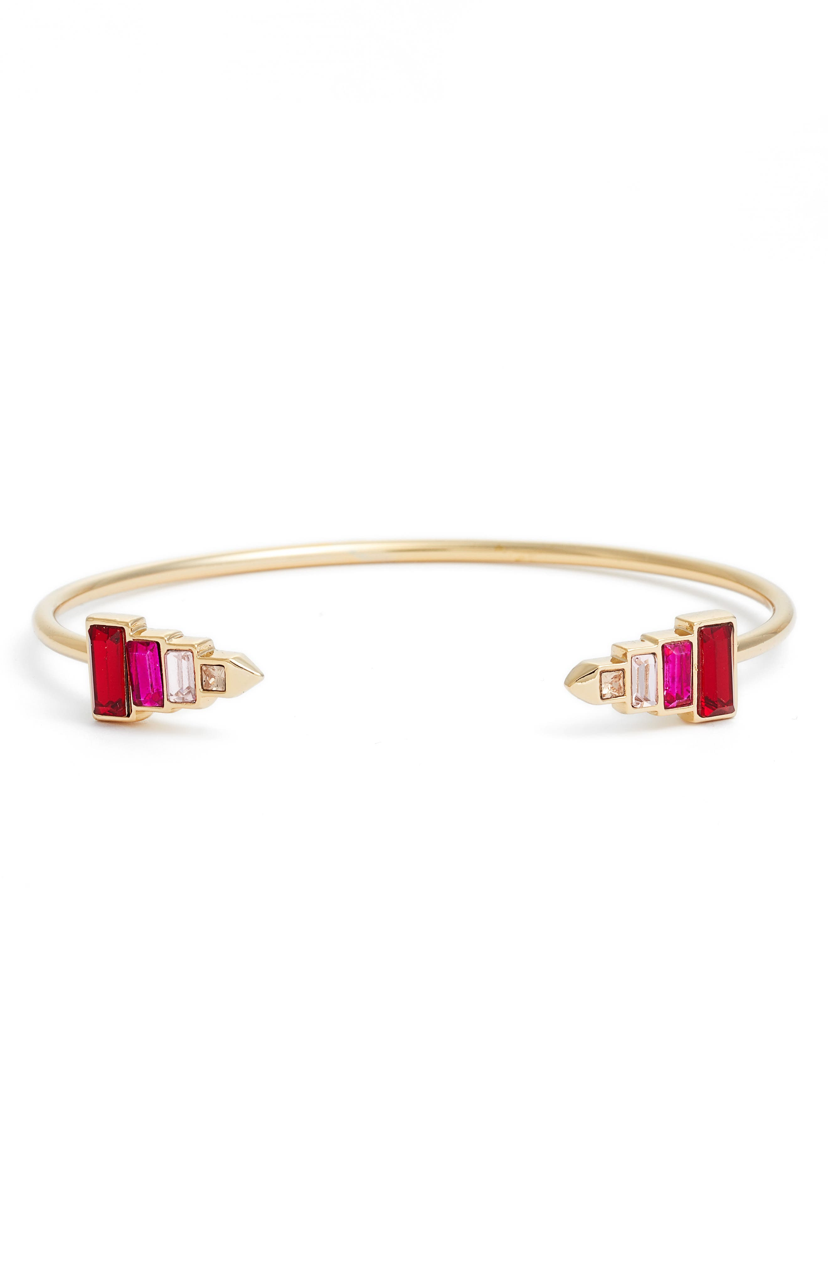 Skinny Cuff,                             Main thumbnail 1, color,                             Red/ Gold
