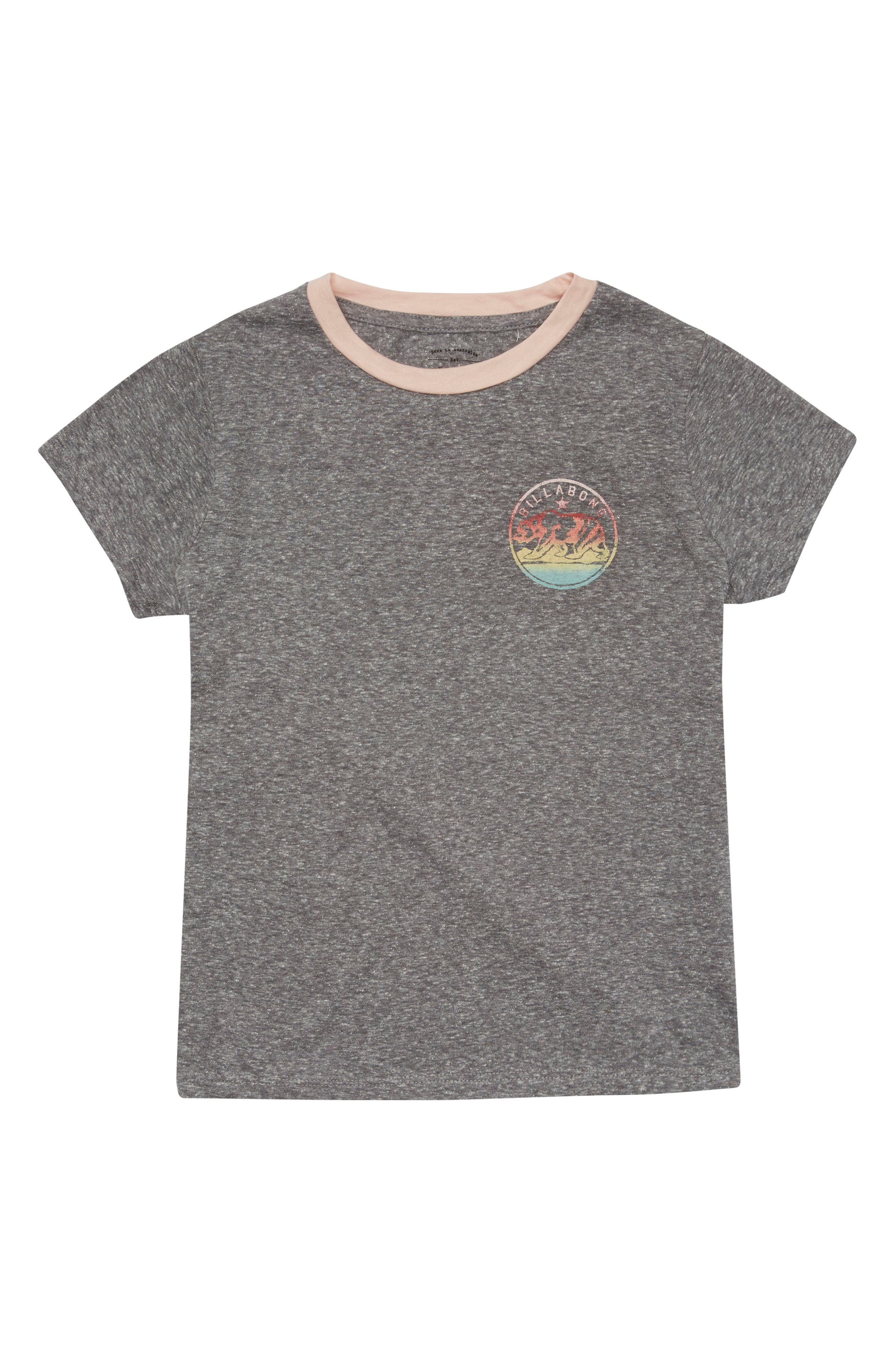 Bear Stamp Graphic Tee,                         Main,                         color, Dark Athletic Grey
