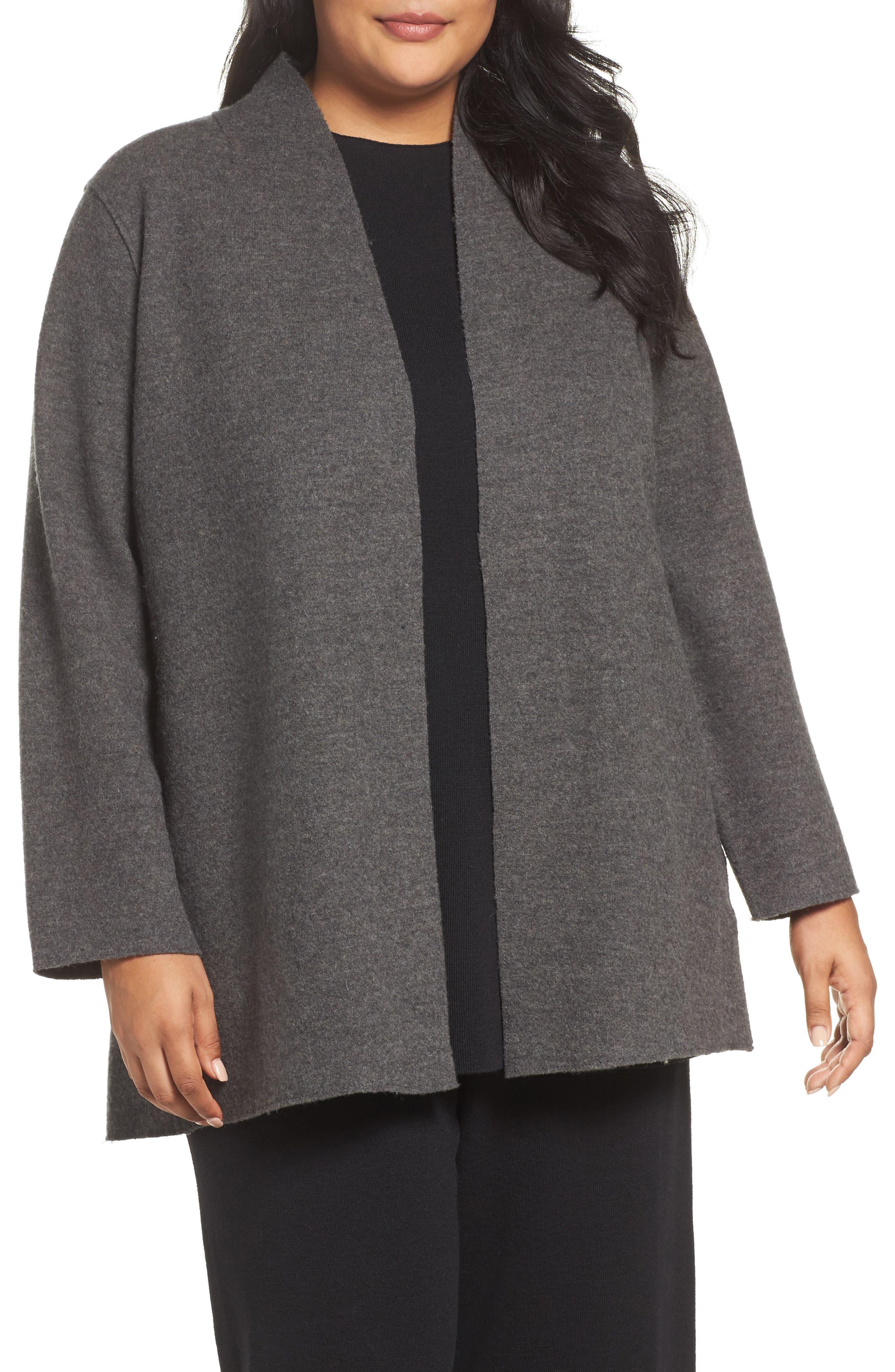Eileen Fisher Boiled Wool Jacket (Plus Size)