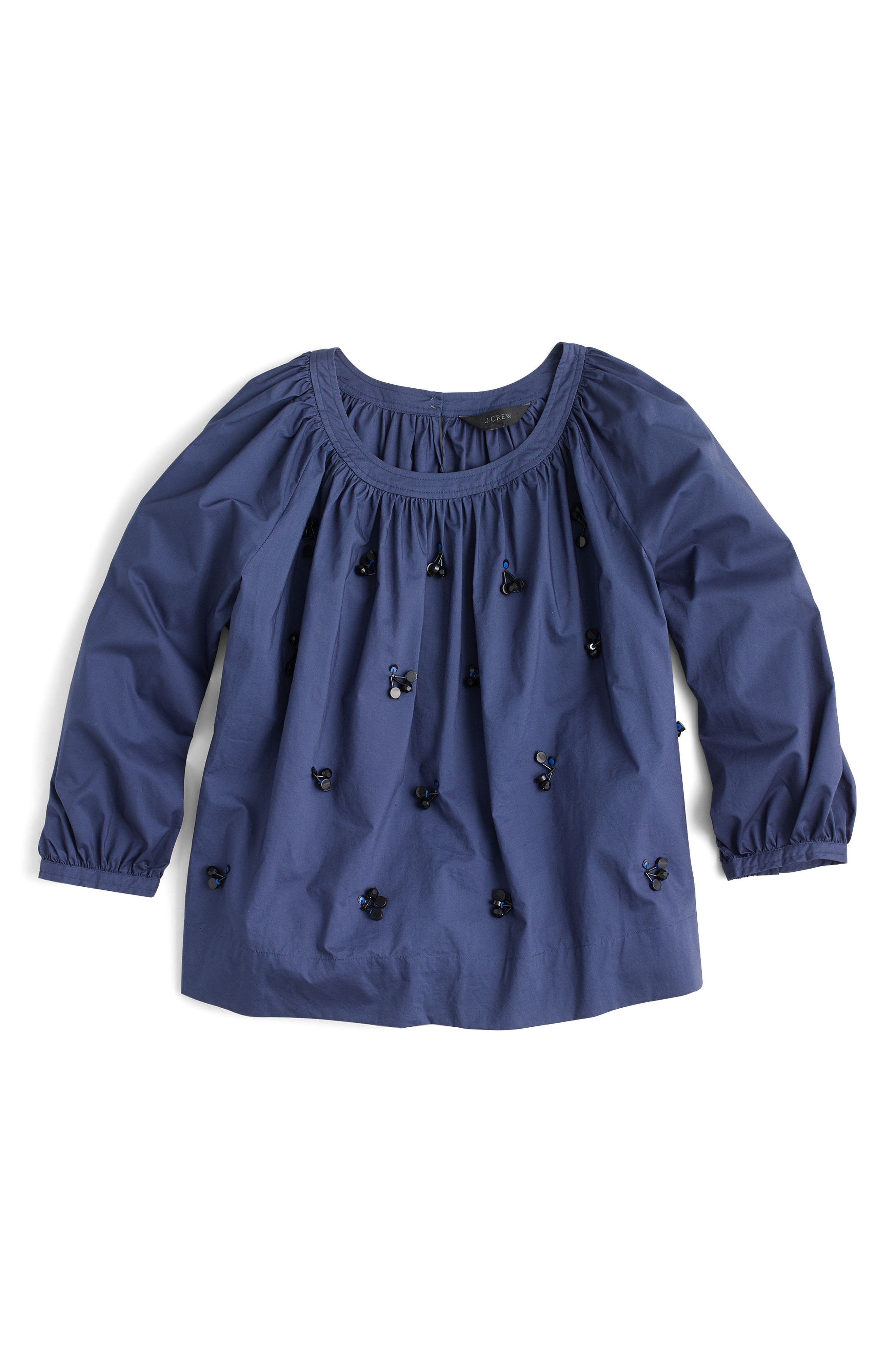 The Perfect Embellished Top,                             Alternate thumbnail 4, color,                             Vintage Indigo