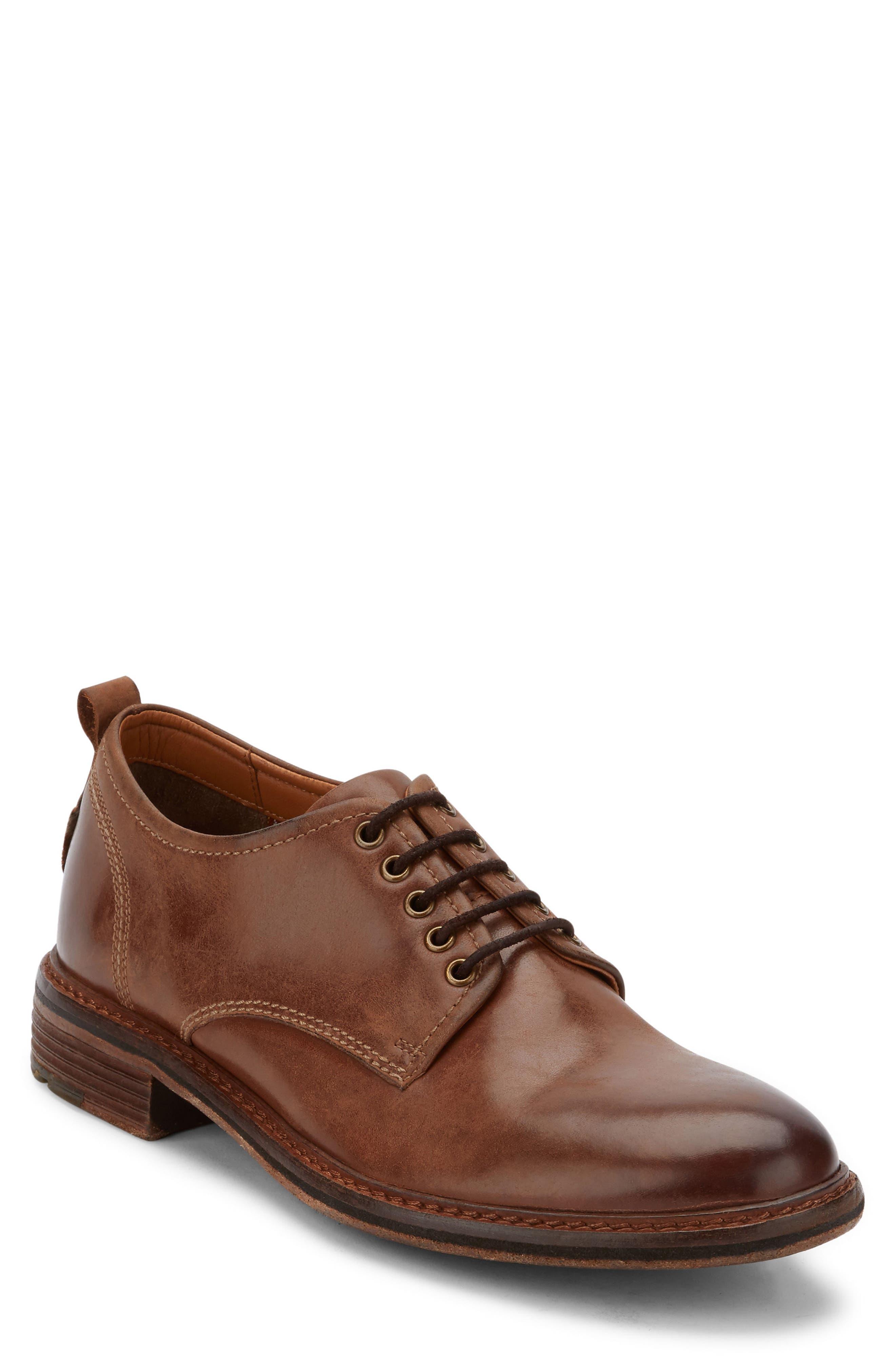 G.H. Bass Hanson Plain Toe Derby,                         Main,                         color, Dark Tan