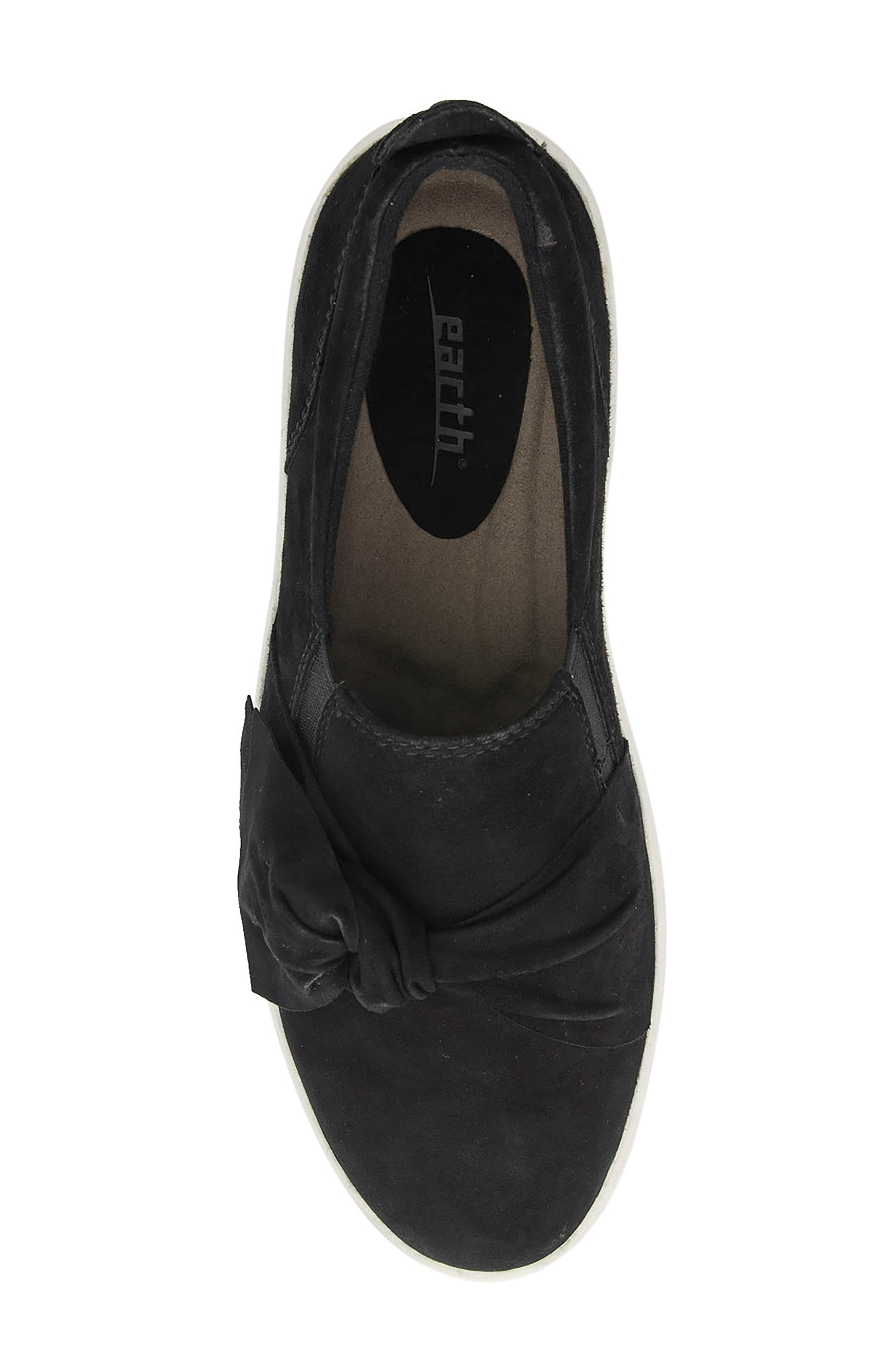 Zoey Slip-On,                             Alternate thumbnail 5, color,                             Black Suede Fabric
