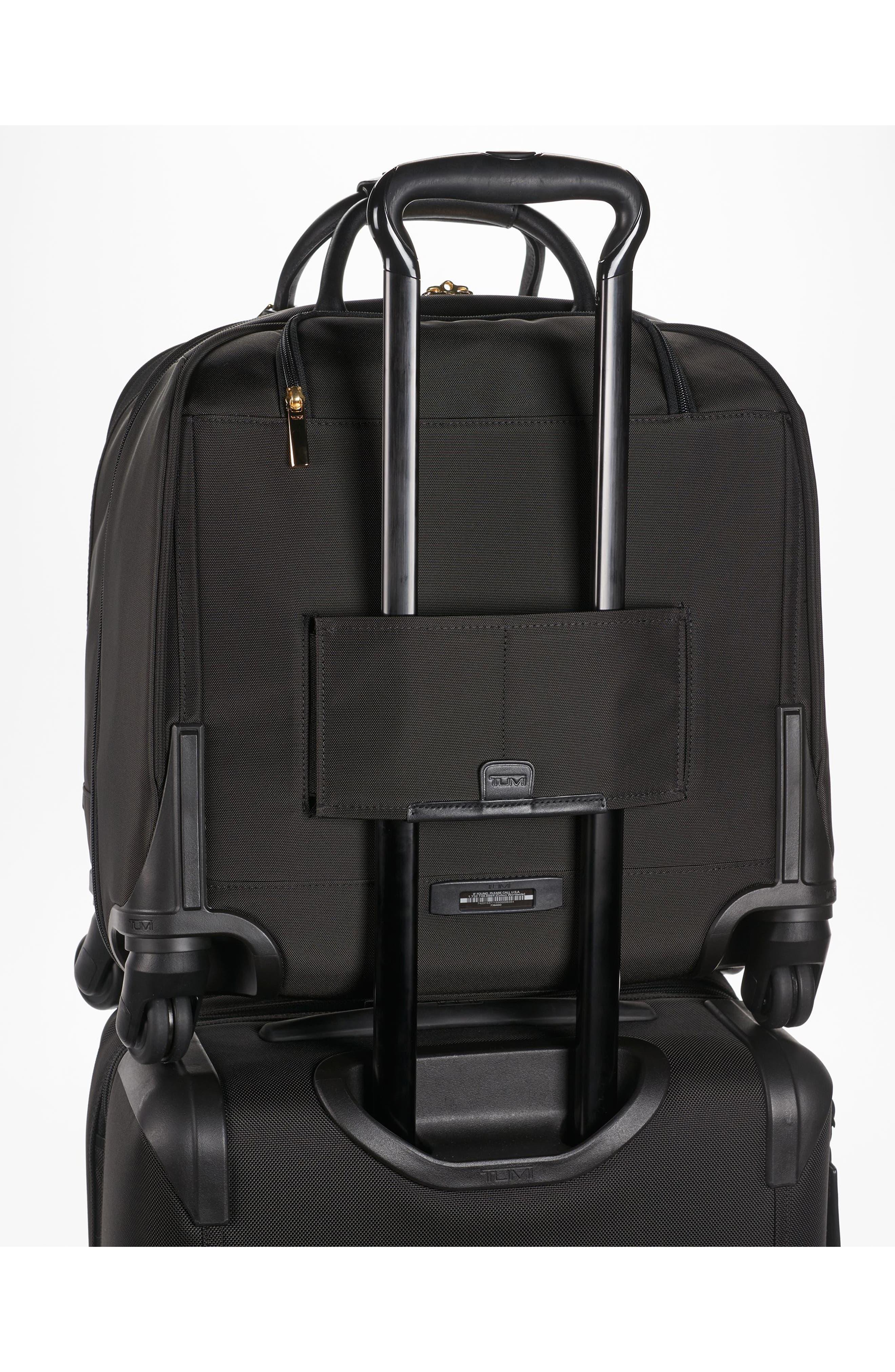 Larkin - Shannon 11-Inch Compact Nylon Wheeled Carry-On,                             Alternate thumbnail 5, color,                             Black