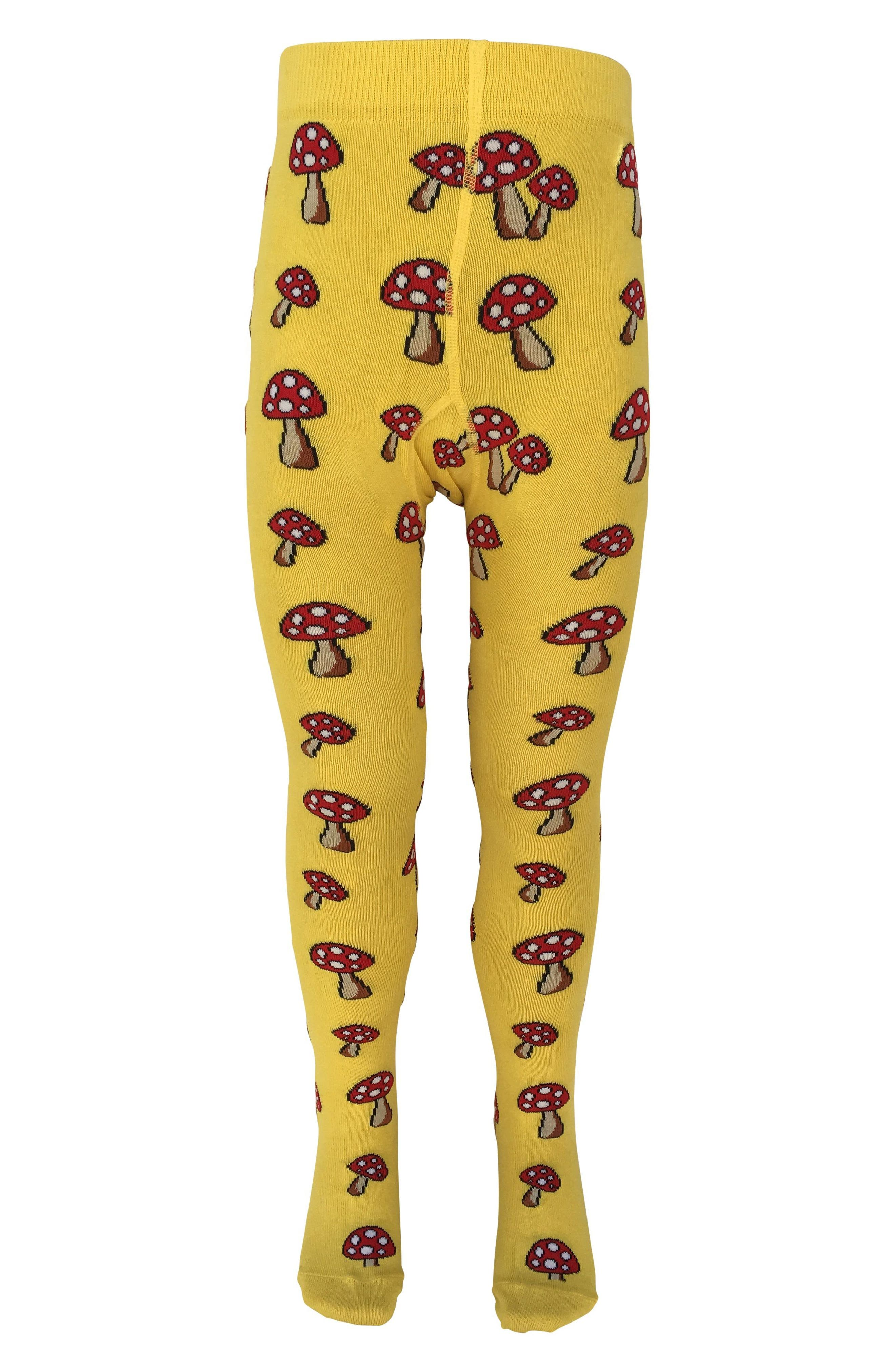 Alternate Image 1 Selected - Slugs & Snails Toadstool Tights (Baby Girls & Toddler Girls)