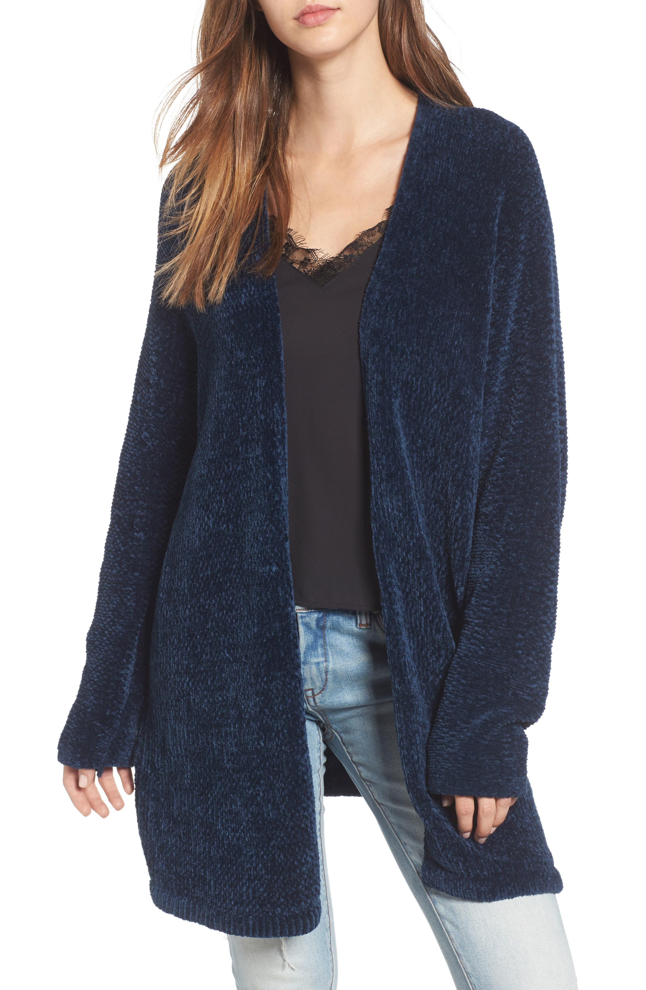 Alternate Image 1 Selected - Lost + Wander Maya Chenille Long Cardigan