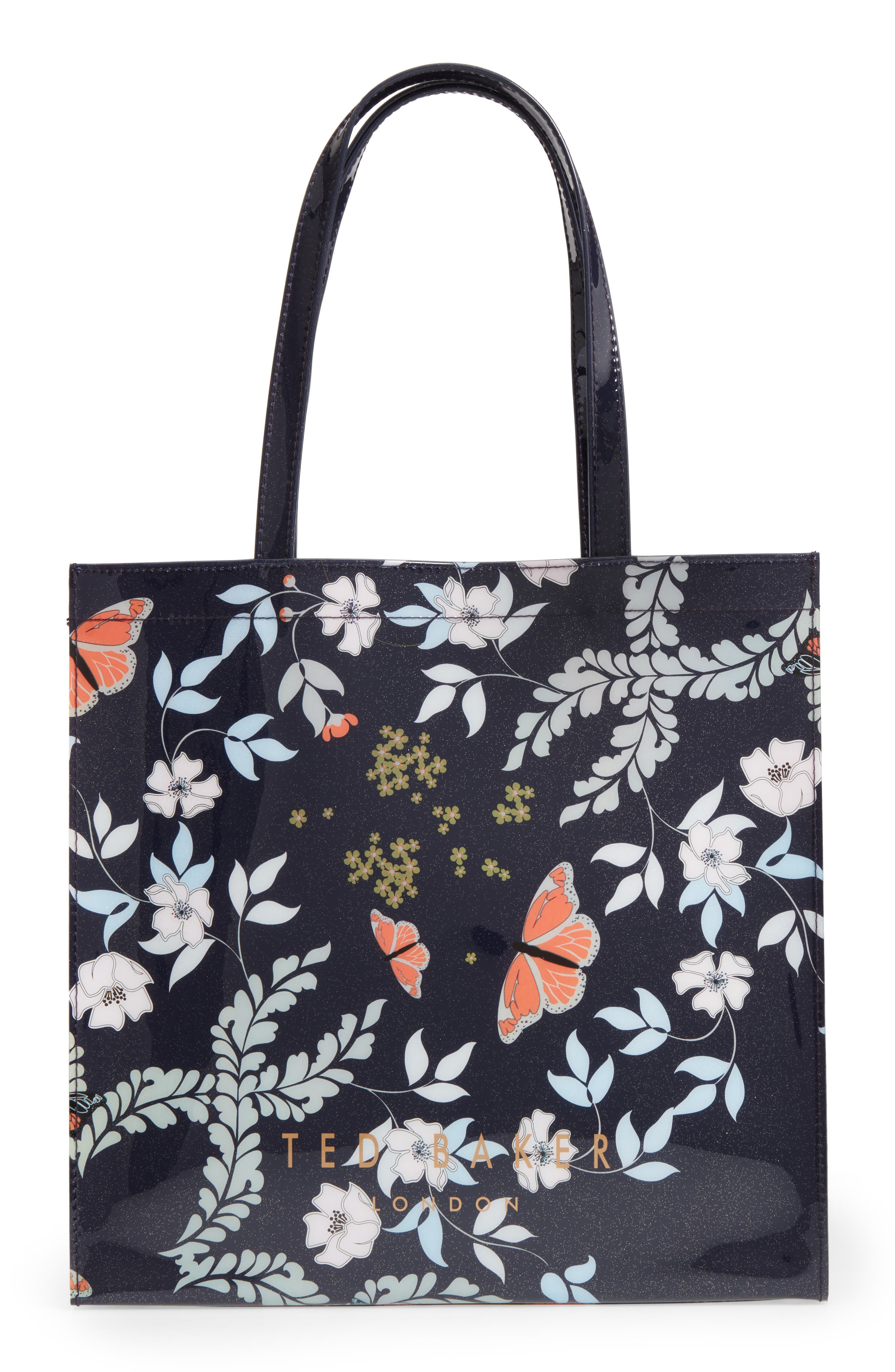 Large Icon - Kyoto Gardens Tote,                             Main thumbnail 1, color,                             Mid Blue