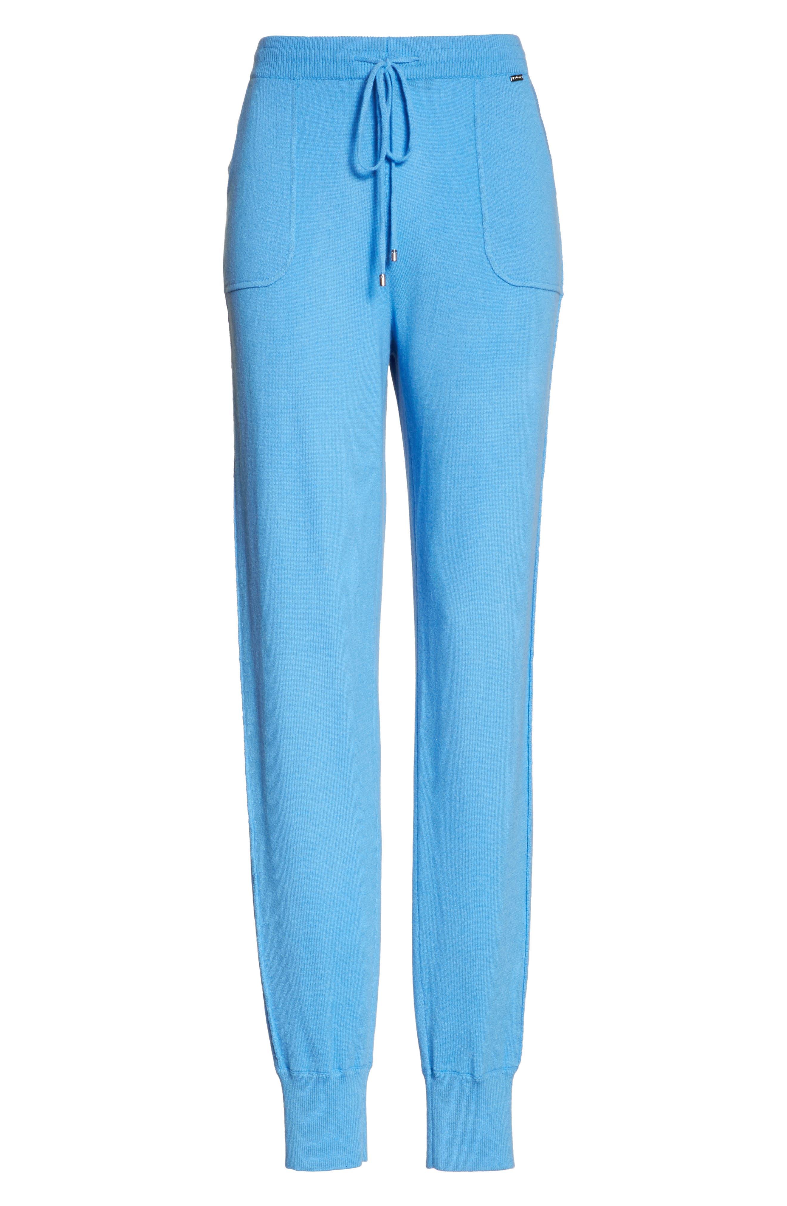 Cashmere Jersey Pants,                             Alternate thumbnail 6, color,                             Bright Niagara