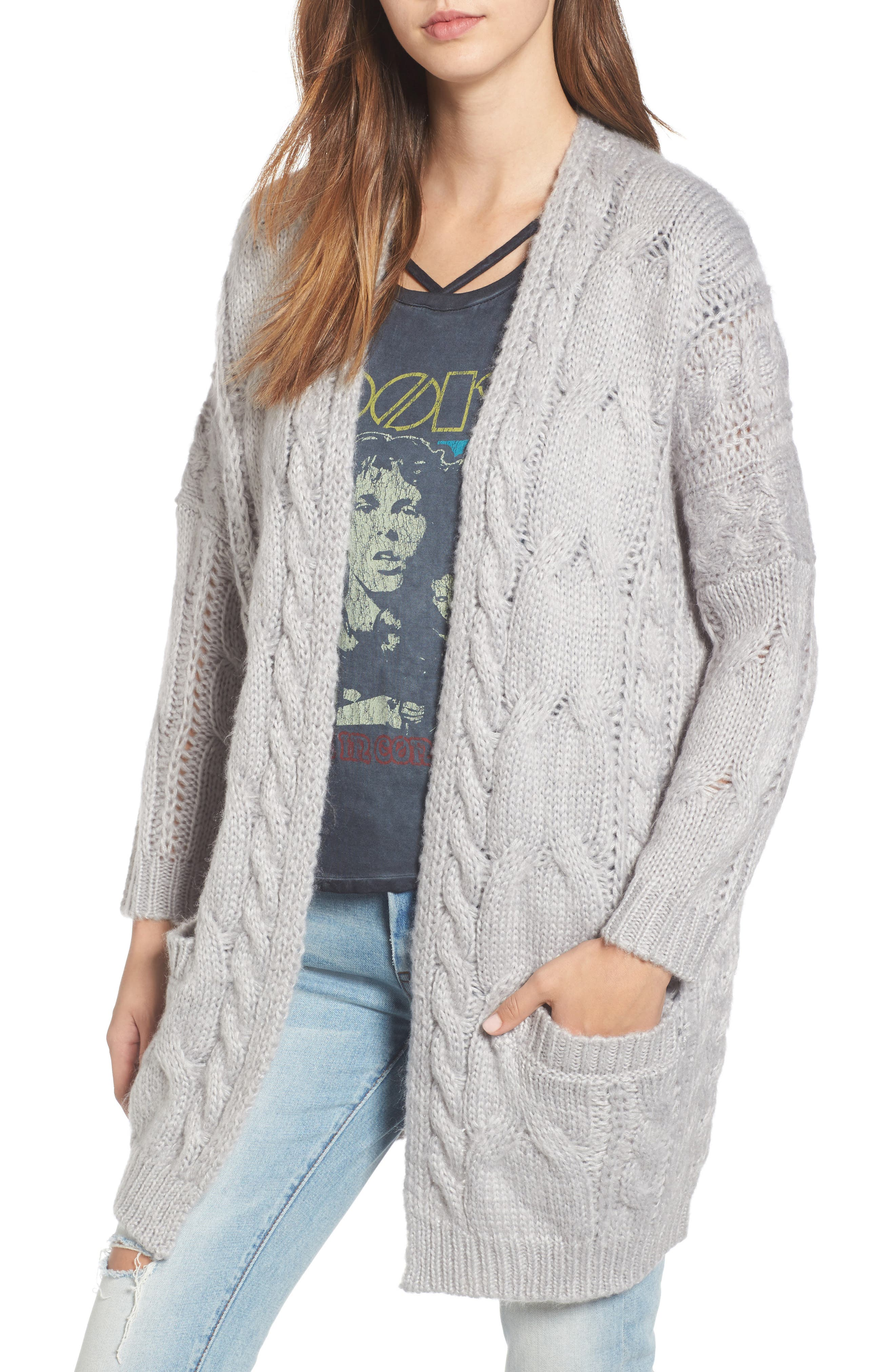 BP. Cable Knit Cardigan