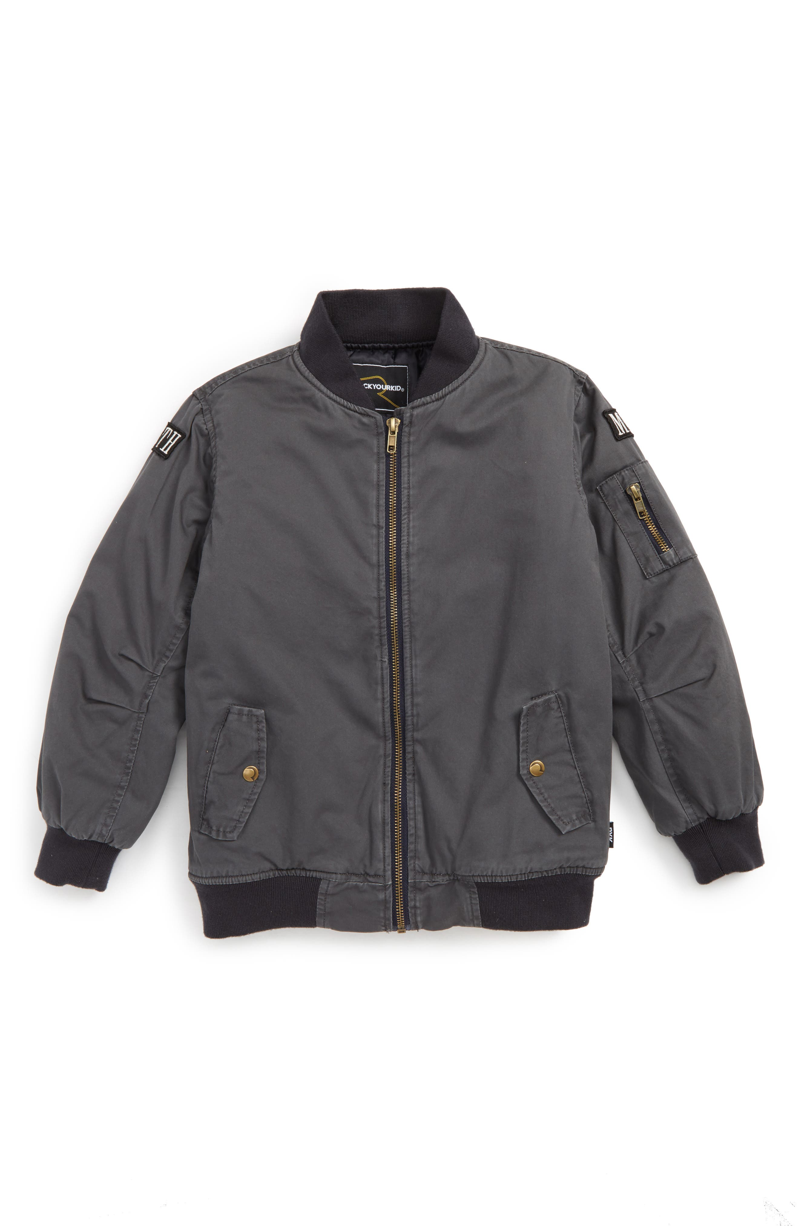 Keith Bomber Jacket,                         Main,                         color, Charcoal