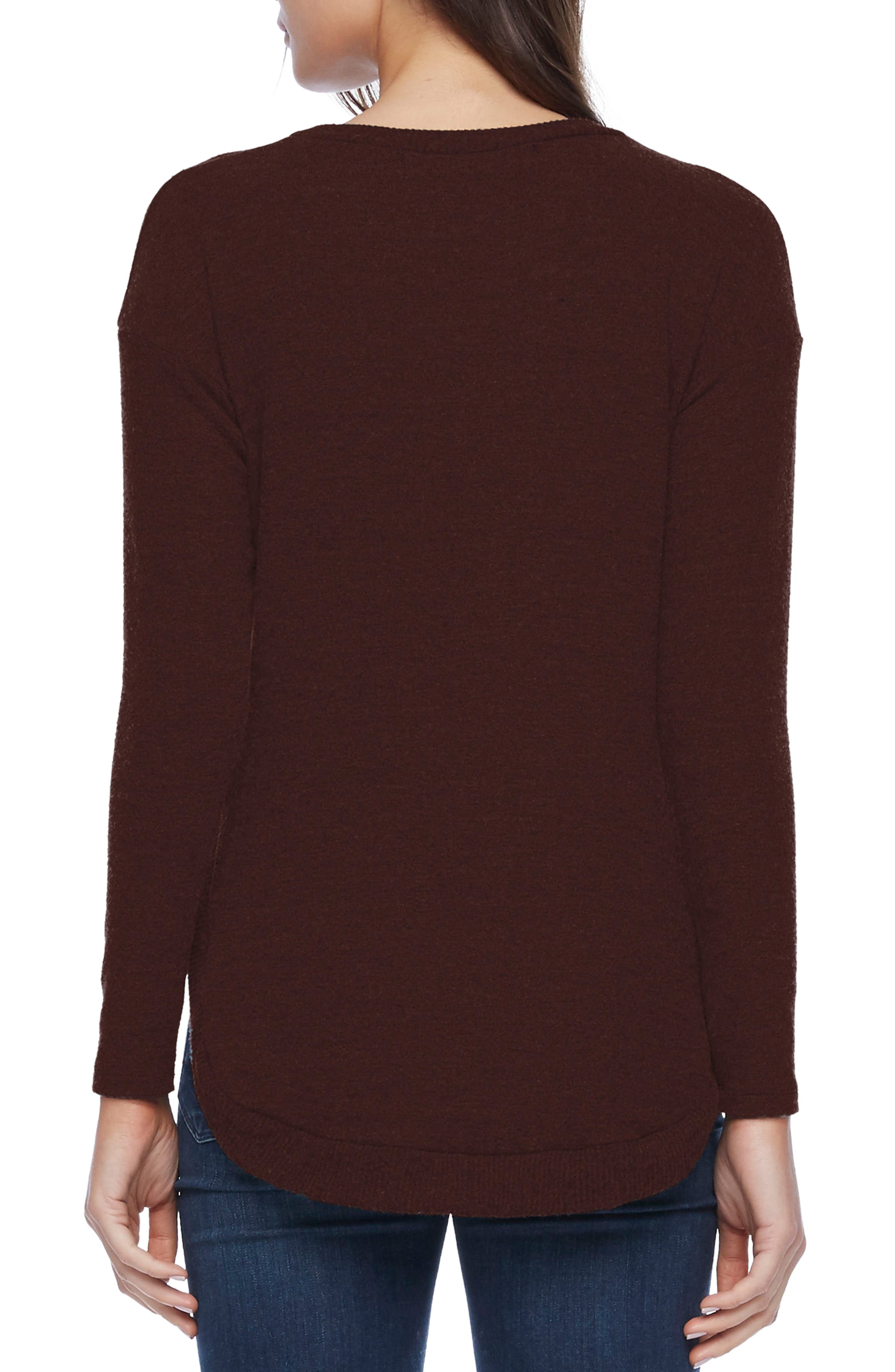 Alternate Image 2  - Michael Stars Shirttail Hem Sweater