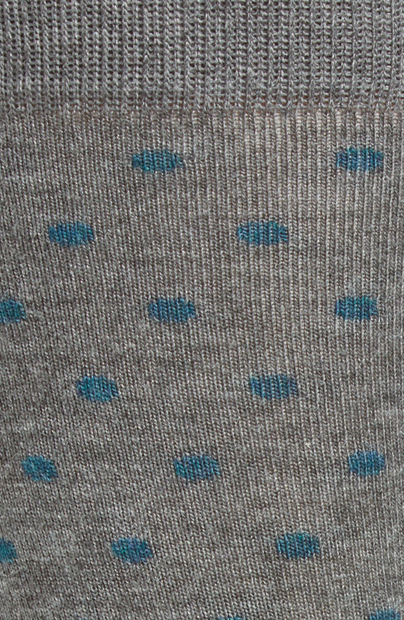 Dot Socks,                             Alternate thumbnail 2, color,                             Grey Heather