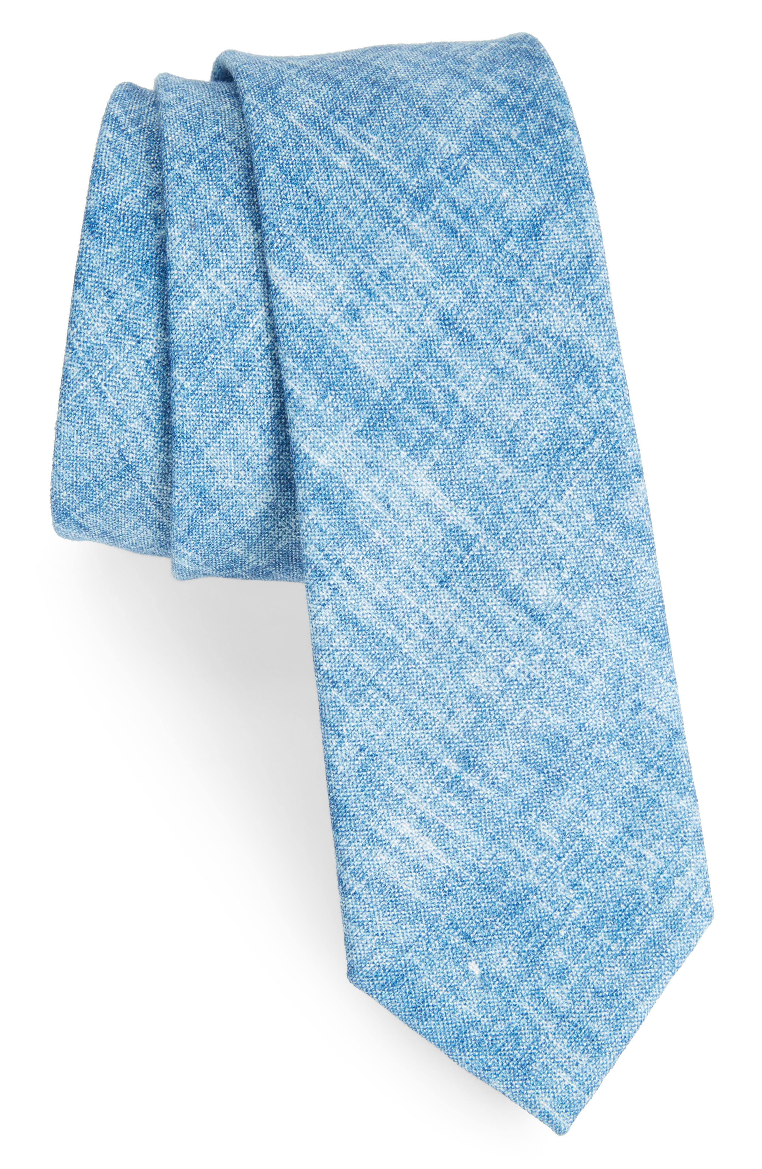 Alternate Image 1 Selected - The Tie Bar Freehand Solid Linen Tie