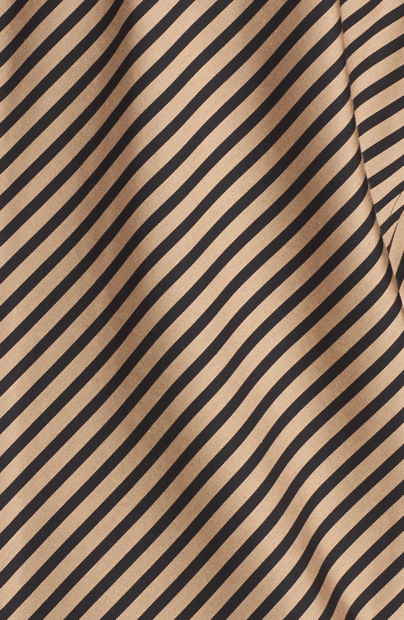 Alternate Image 5  - Foxcroft Fallon Satin Stripe Cotton Shirt (Plus Size)
