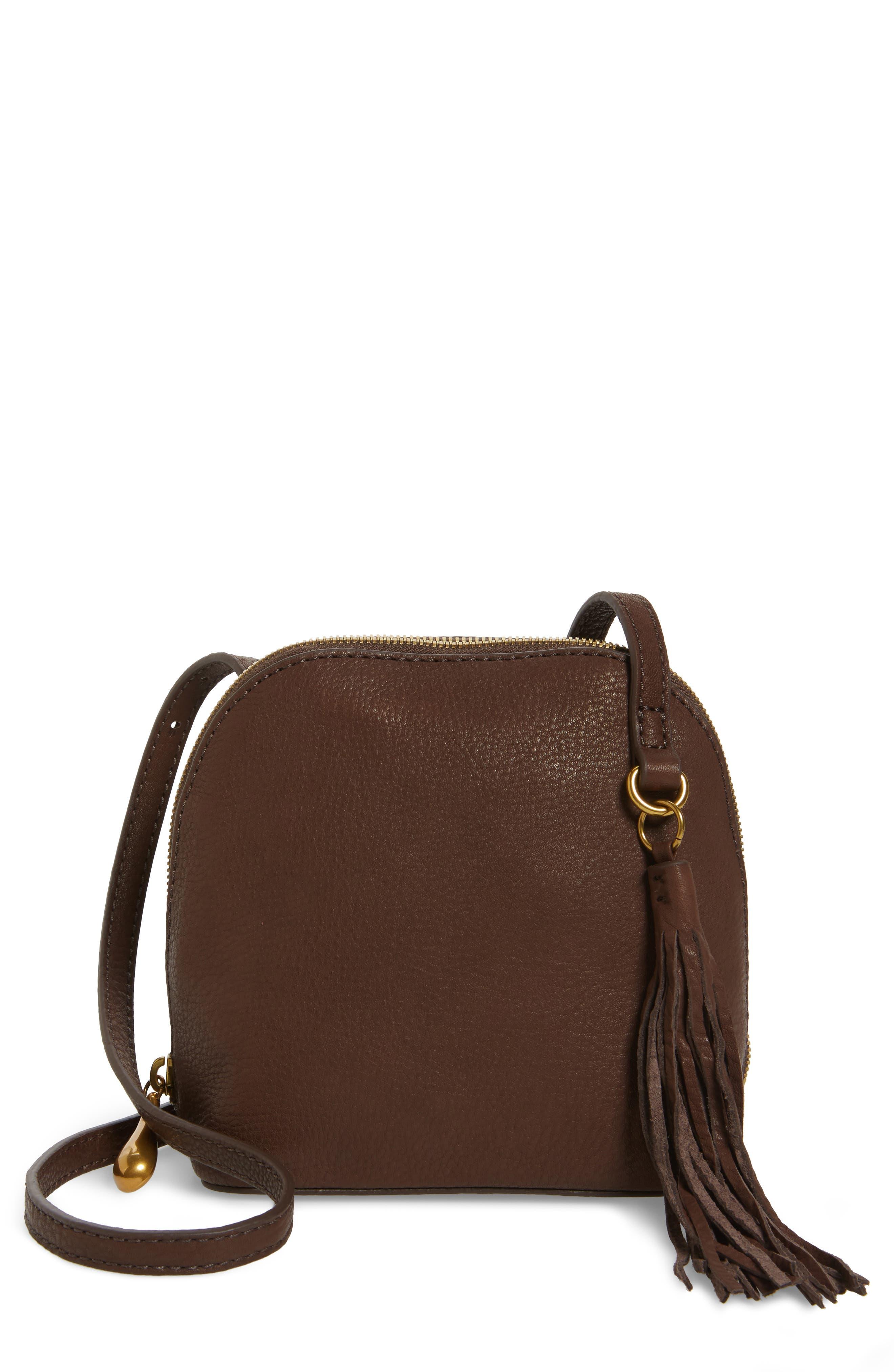 Alternate Image 1 Selected - Hobo Nash Calfskin Leather Crossbody Bag