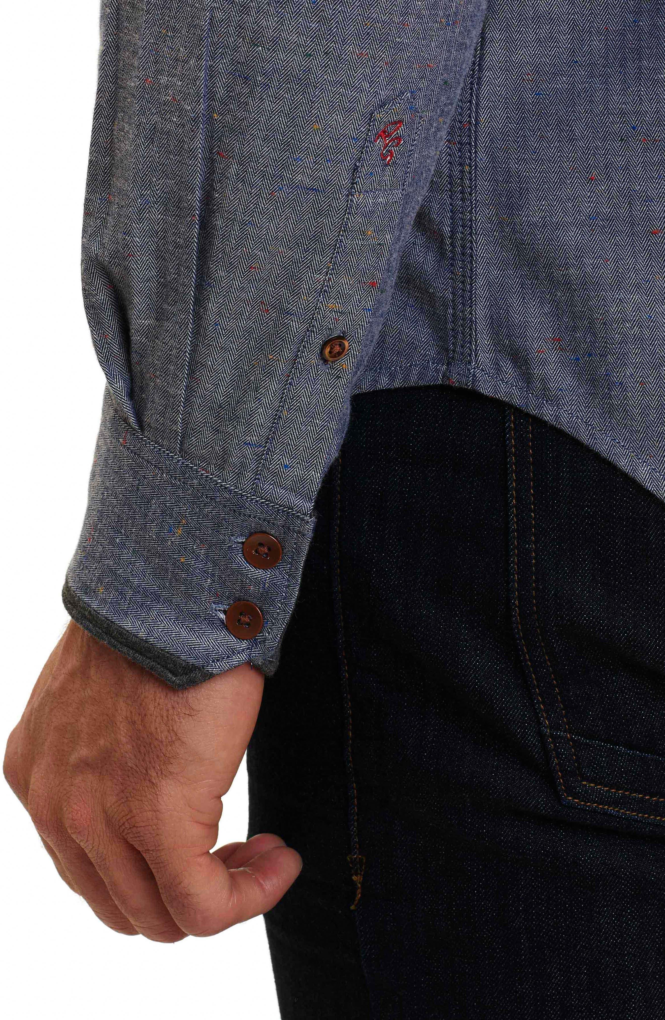 Alternate Image 6  - Robert Graham Upstate Classic Fit Herringbone Sport Shirt