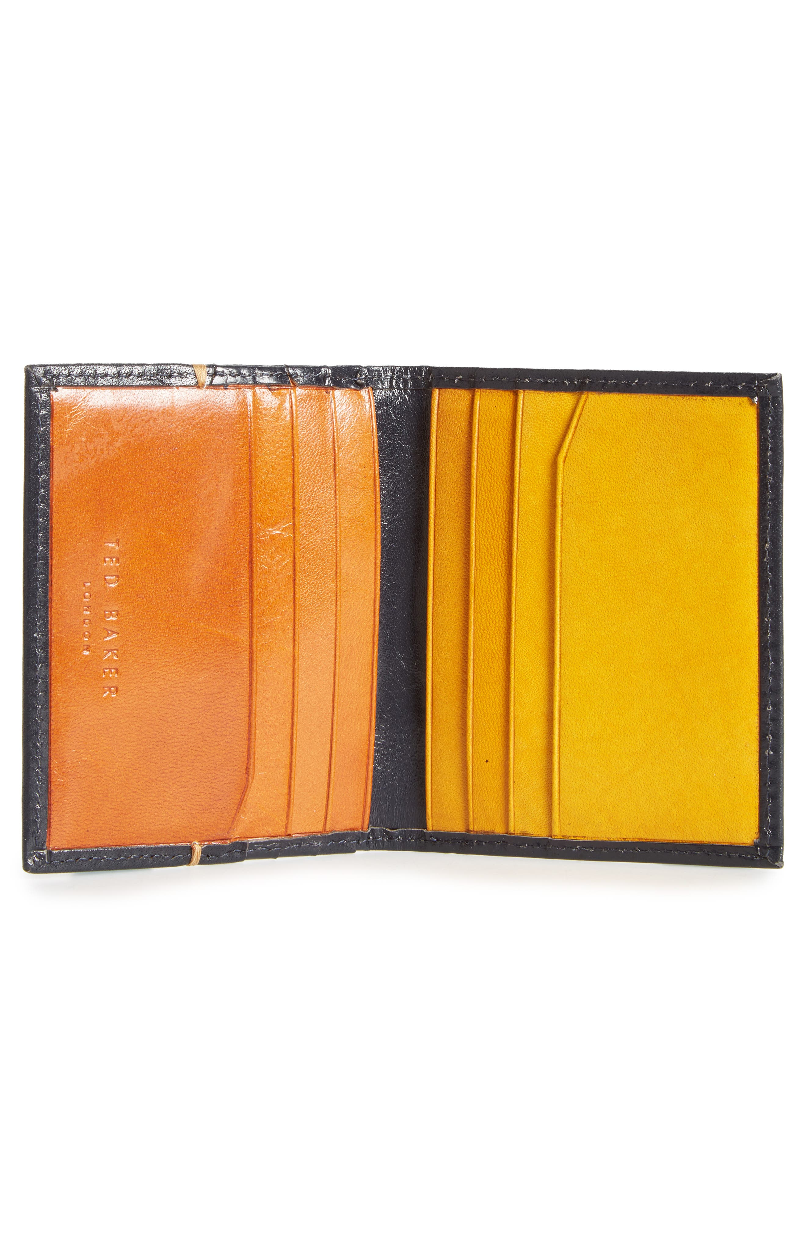 Brights Leather Card Case,                             Alternate thumbnail 2, color,                             Blue