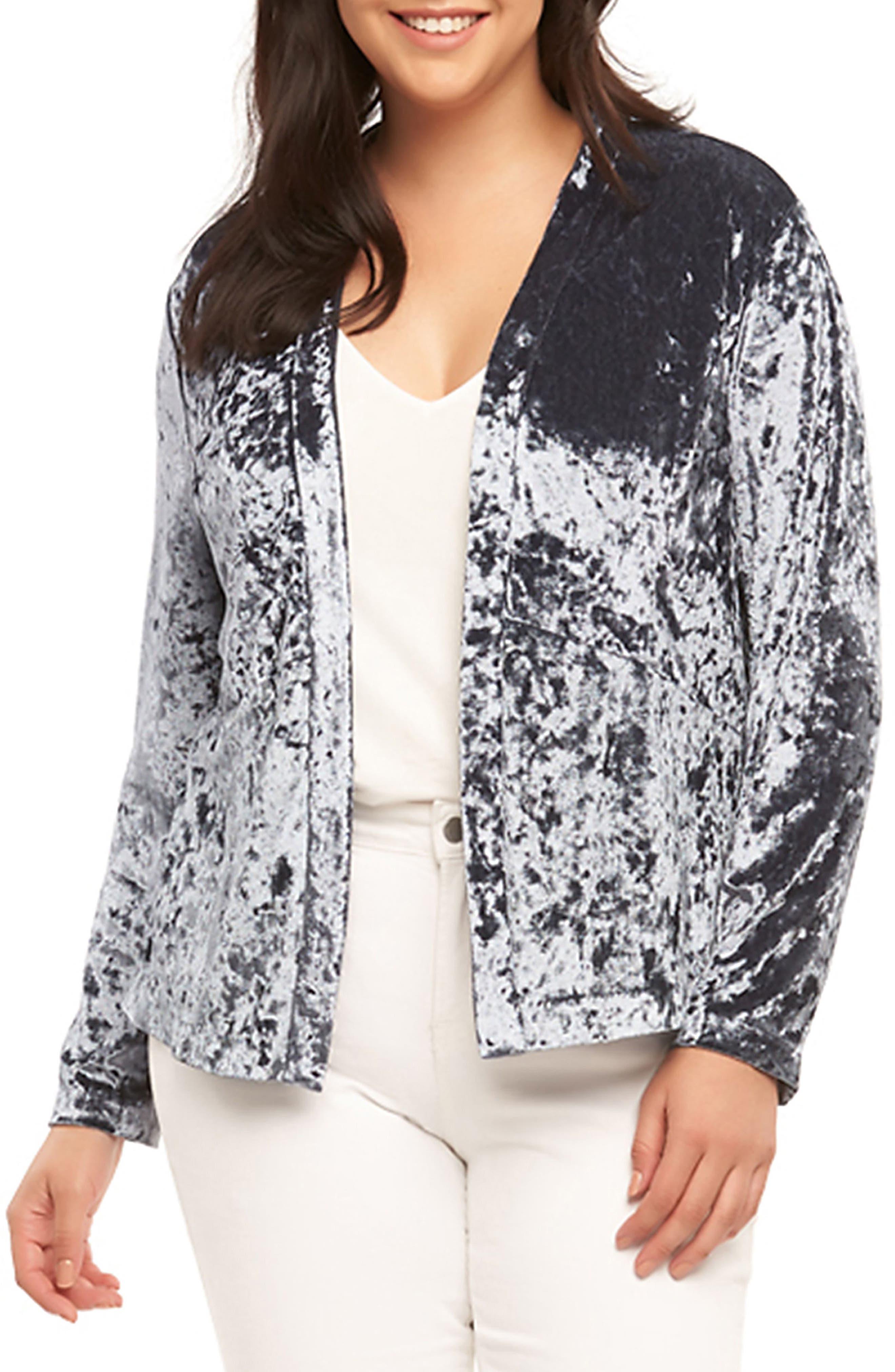 Tart Anaya Velvet Blazer (Plus Size)