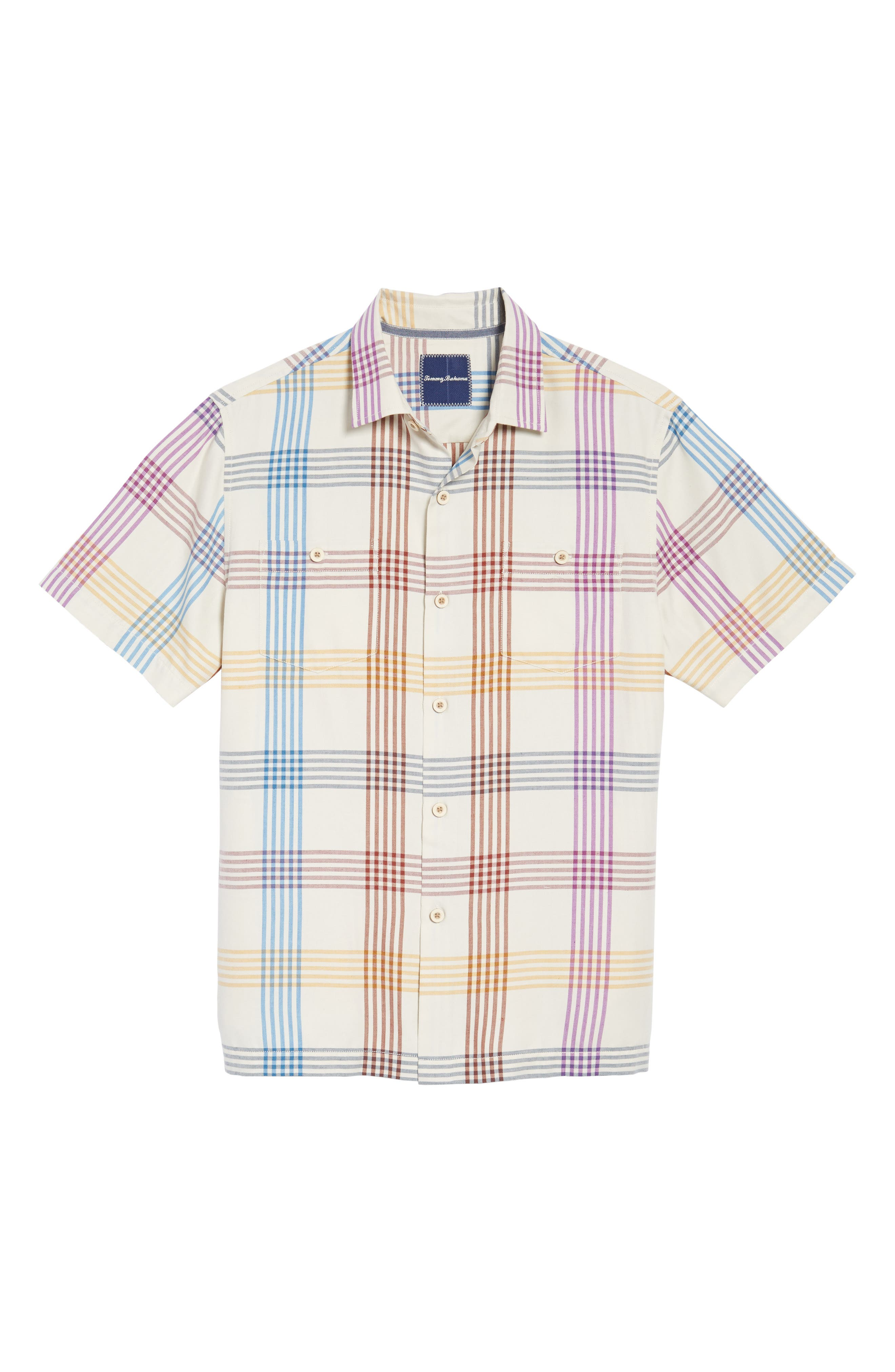 Alternate Image 6  - Tommy Bahama Mo' Rockin Standard Fit Silk Woven Shirt