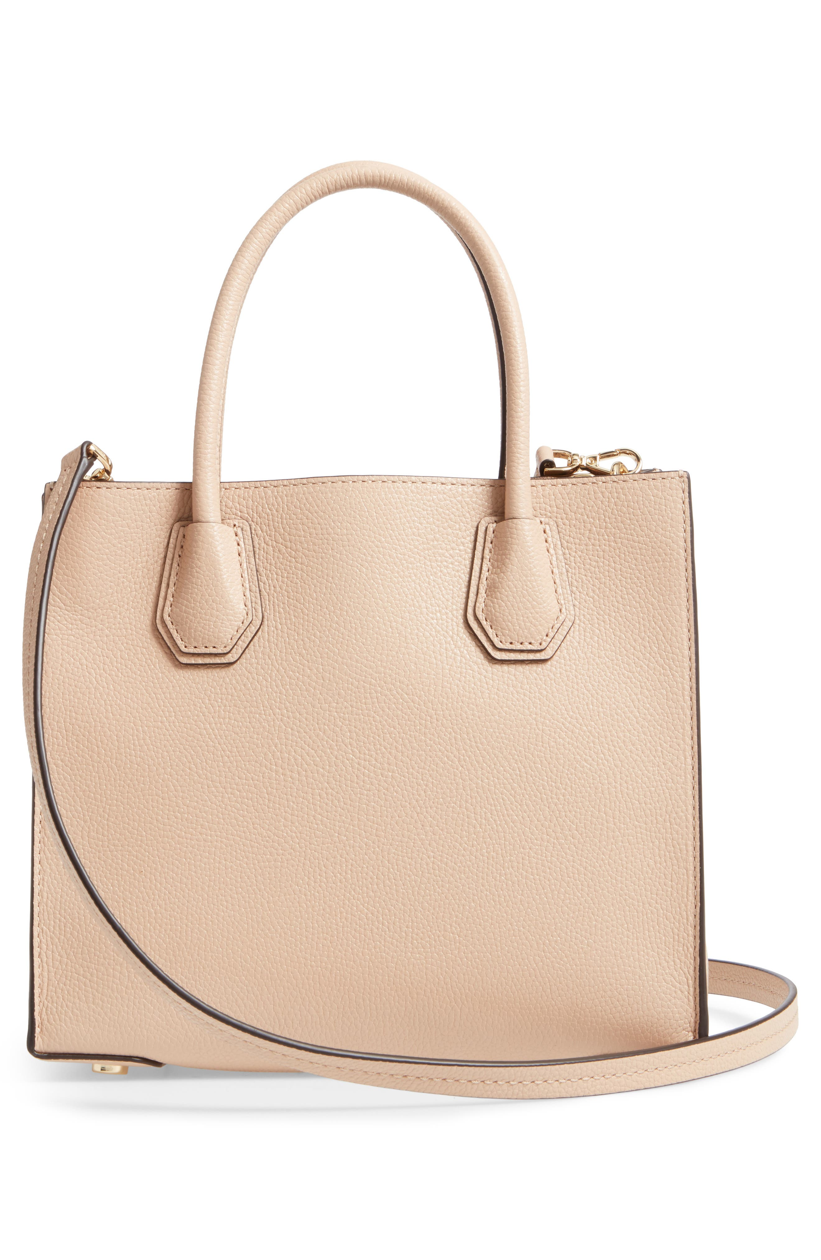 'Medium Mercer' Leather Tote,                             Alternate thumbnail 5, color,                             Oyster
