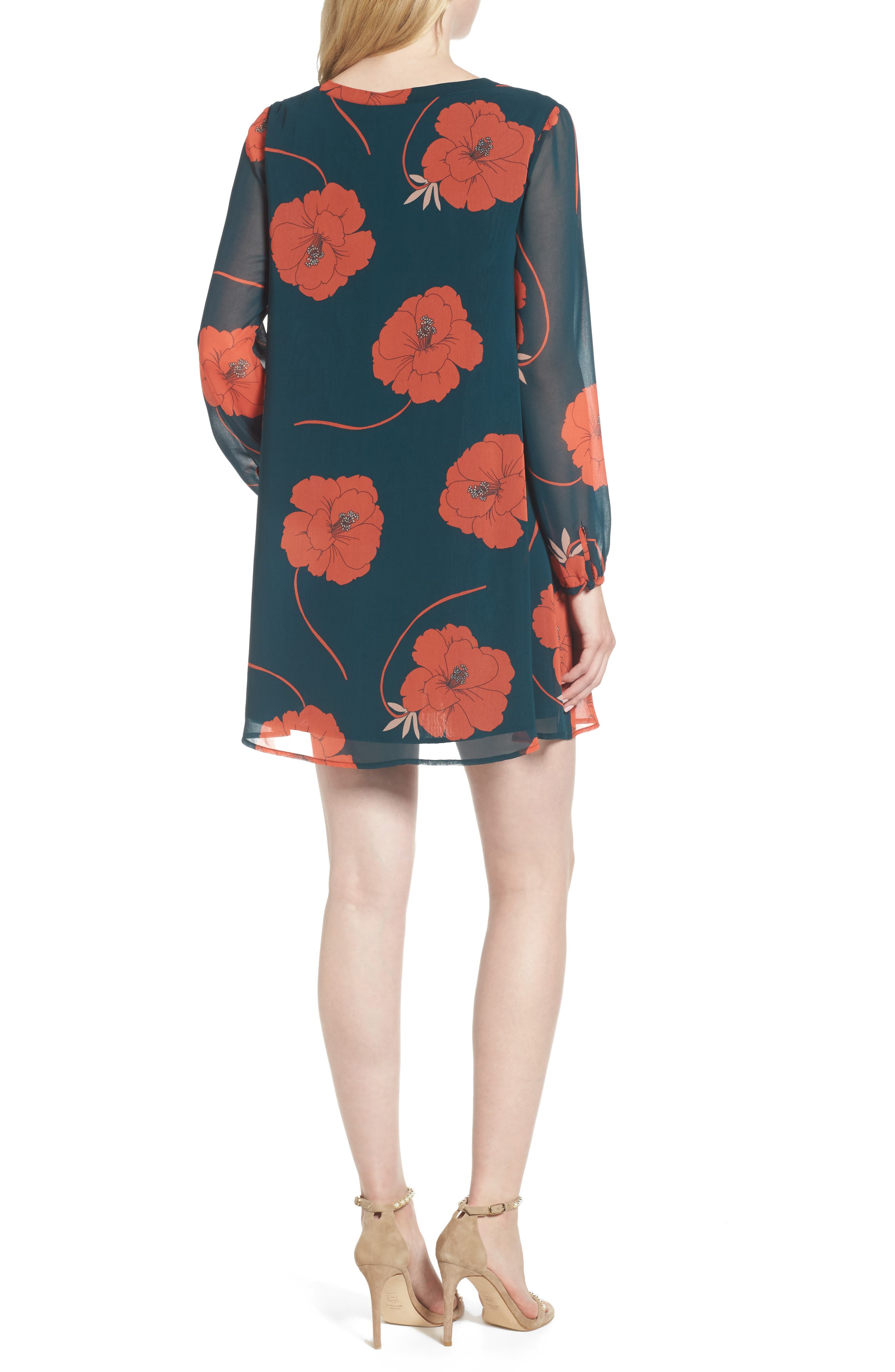 Alternate Image 3  - cupcakes and cashmere Sybella Floral Shift Dress