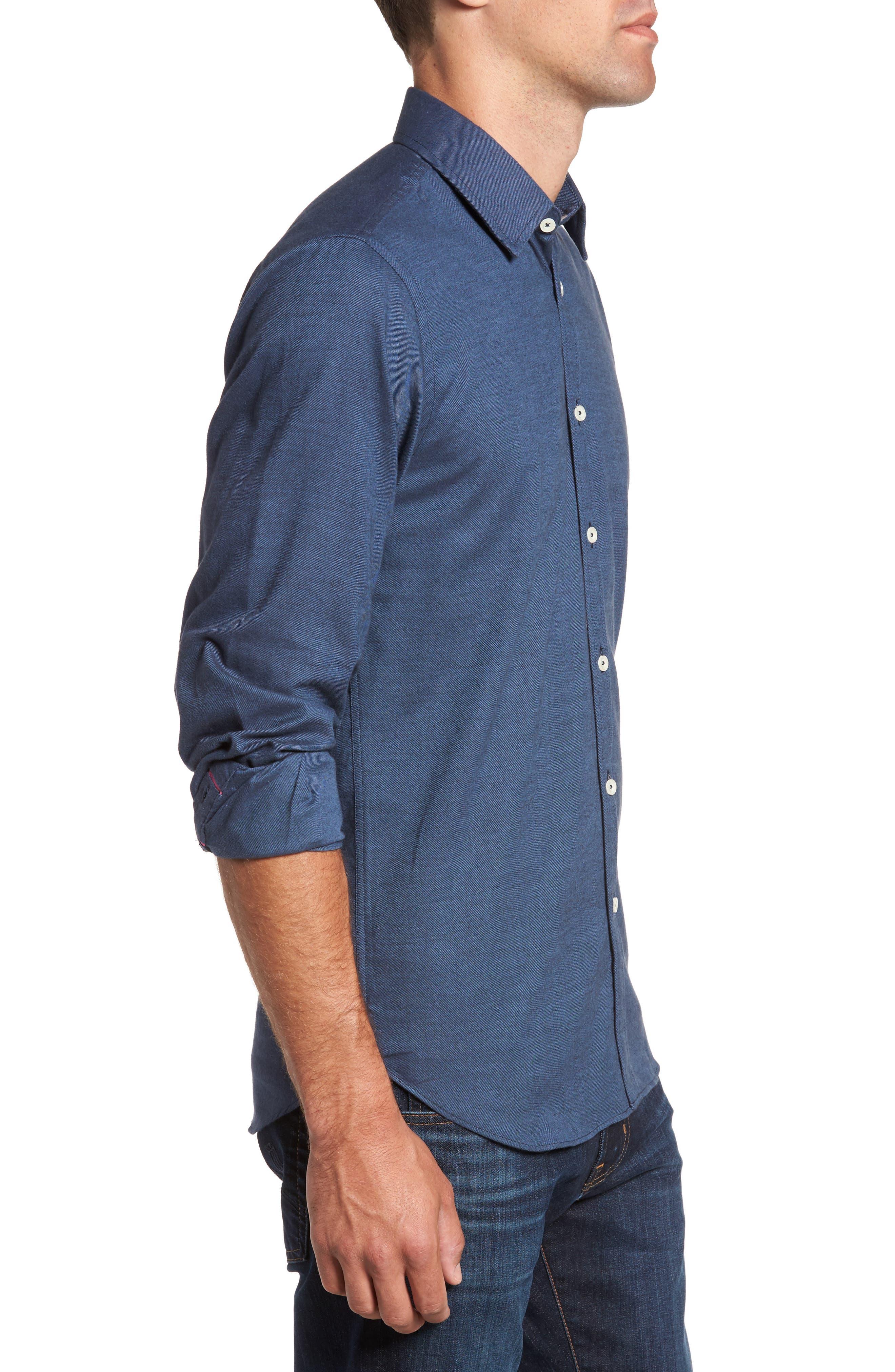 Alternate Image 3  - Jeremy Argyle Slim Fit Solid Sport Shirt