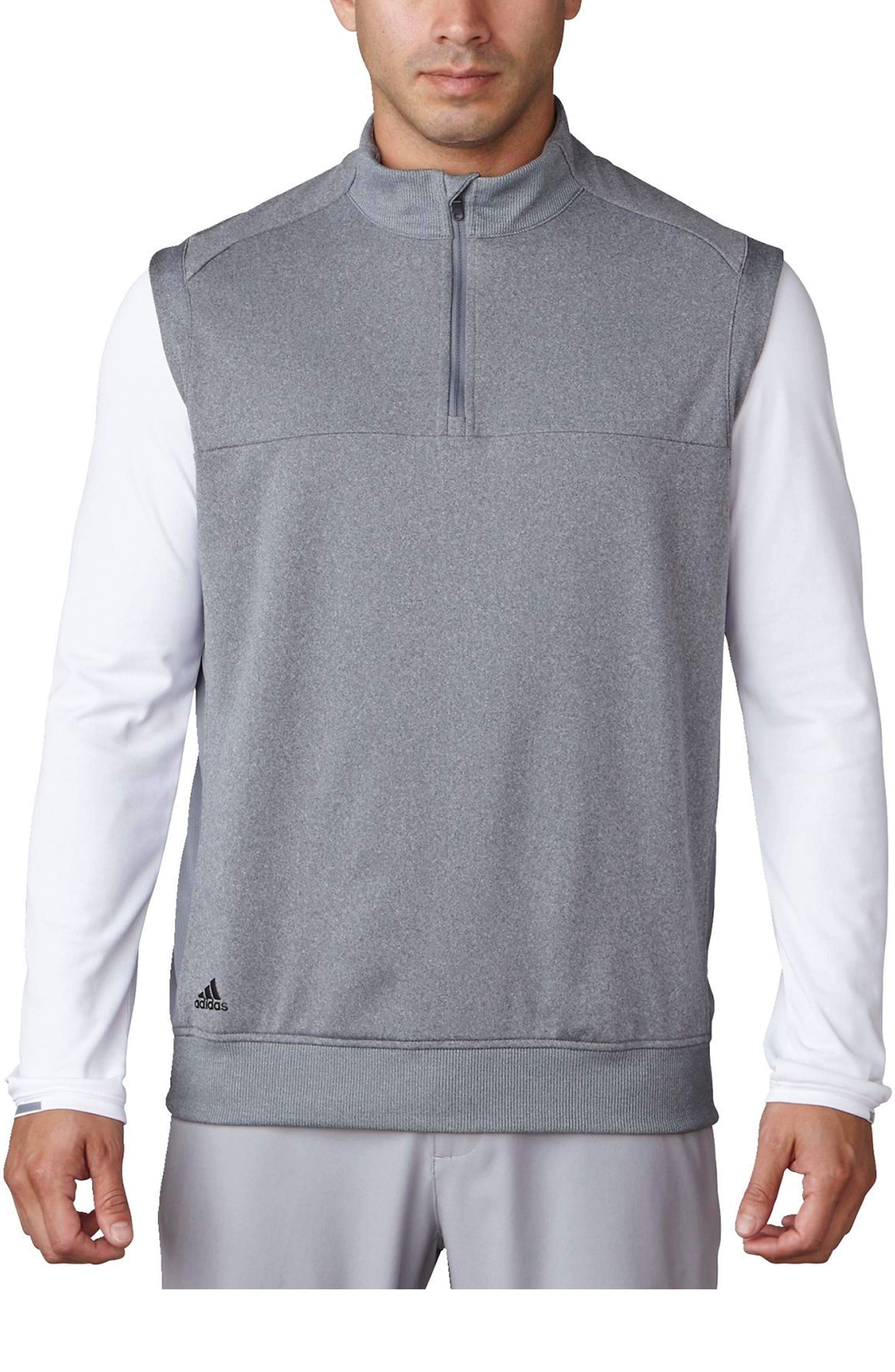 Main Image - adidas Club Quarter Zip Pullover Vest