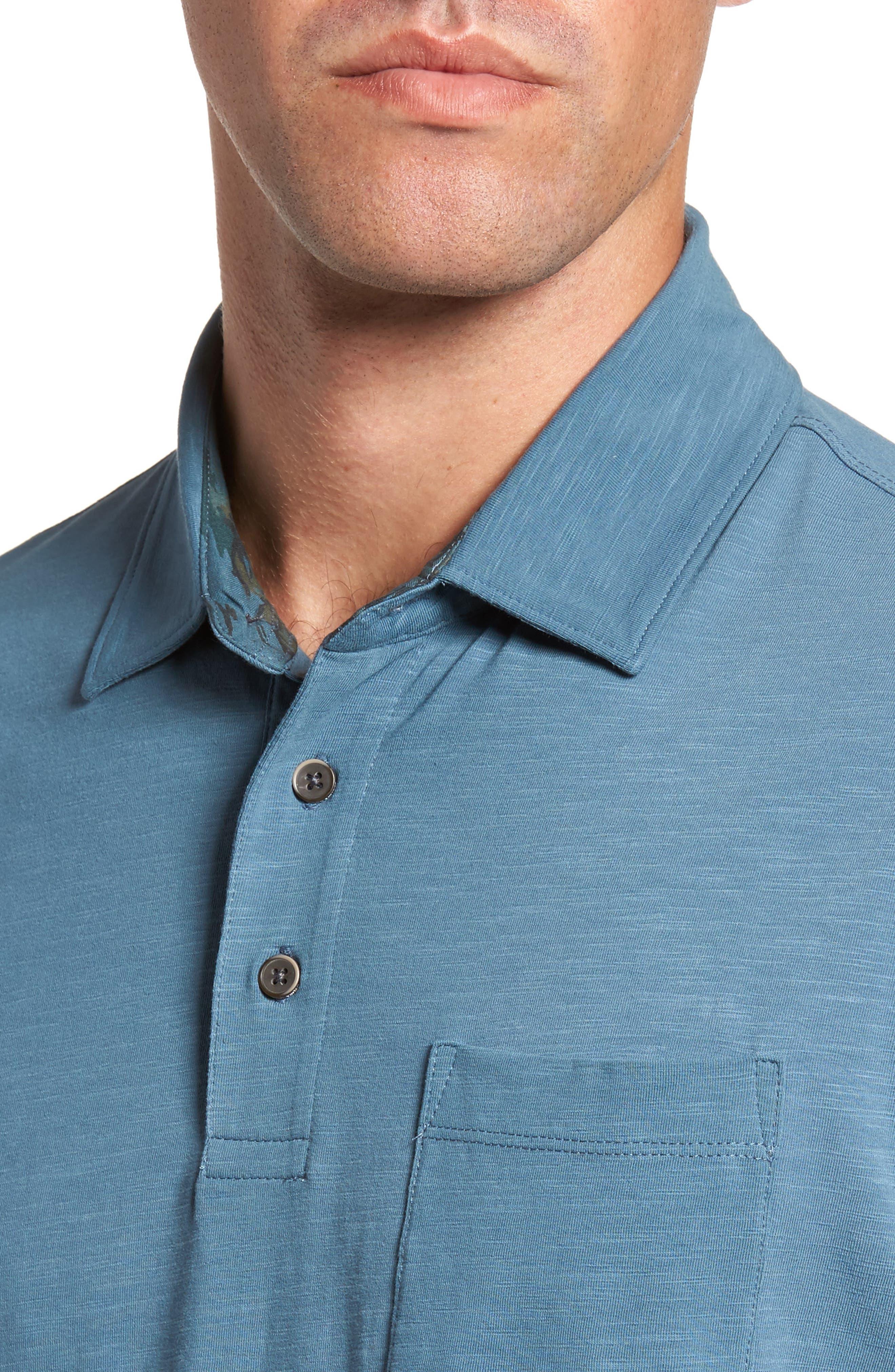 Alternate Image 4  - Tailor Vintage Stretch Slub Jersey Polo