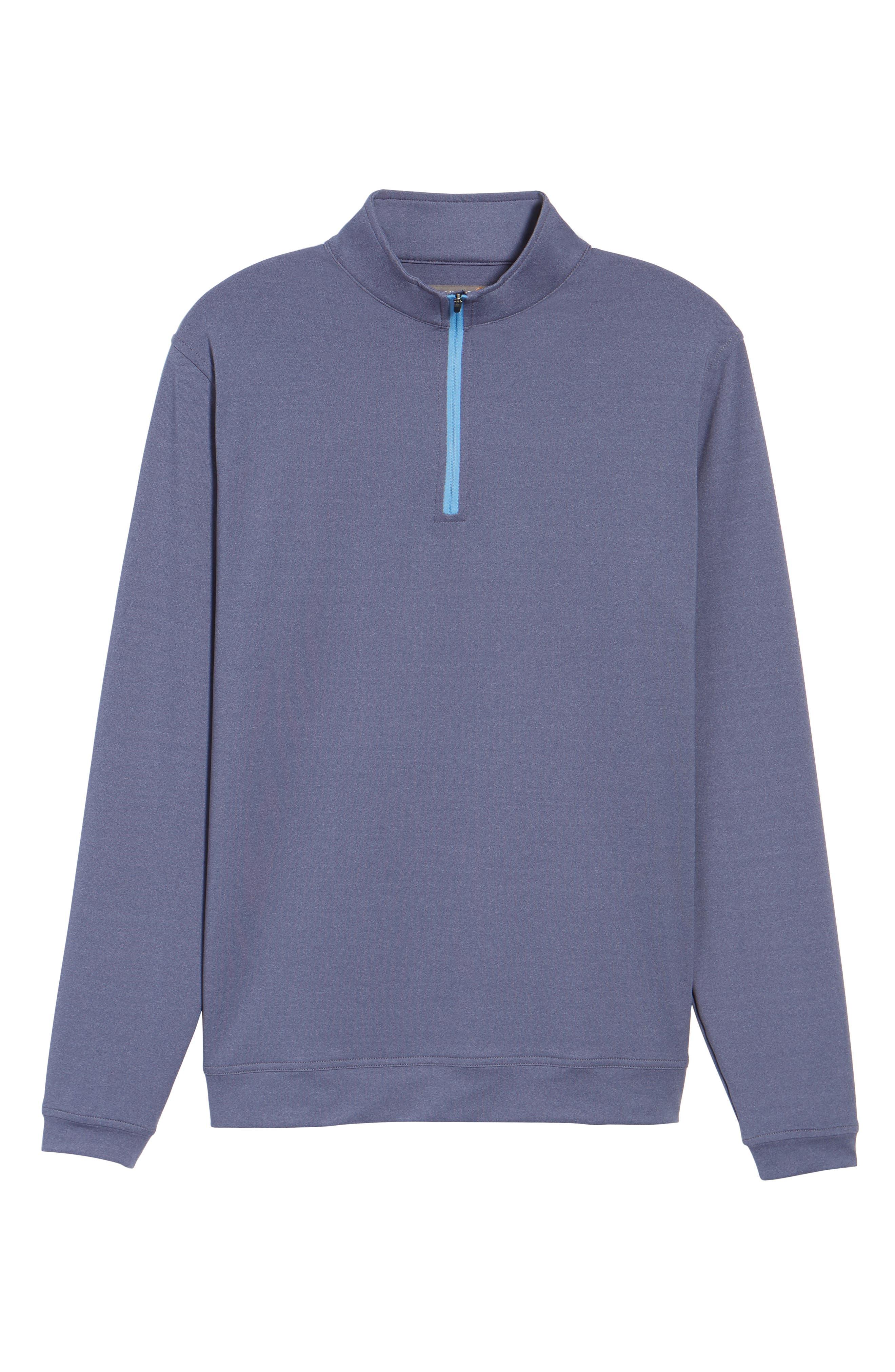 Perth Quarter Zip Stretch Pullover,                             Alternate thumbnail 6, color,                             Blackberry