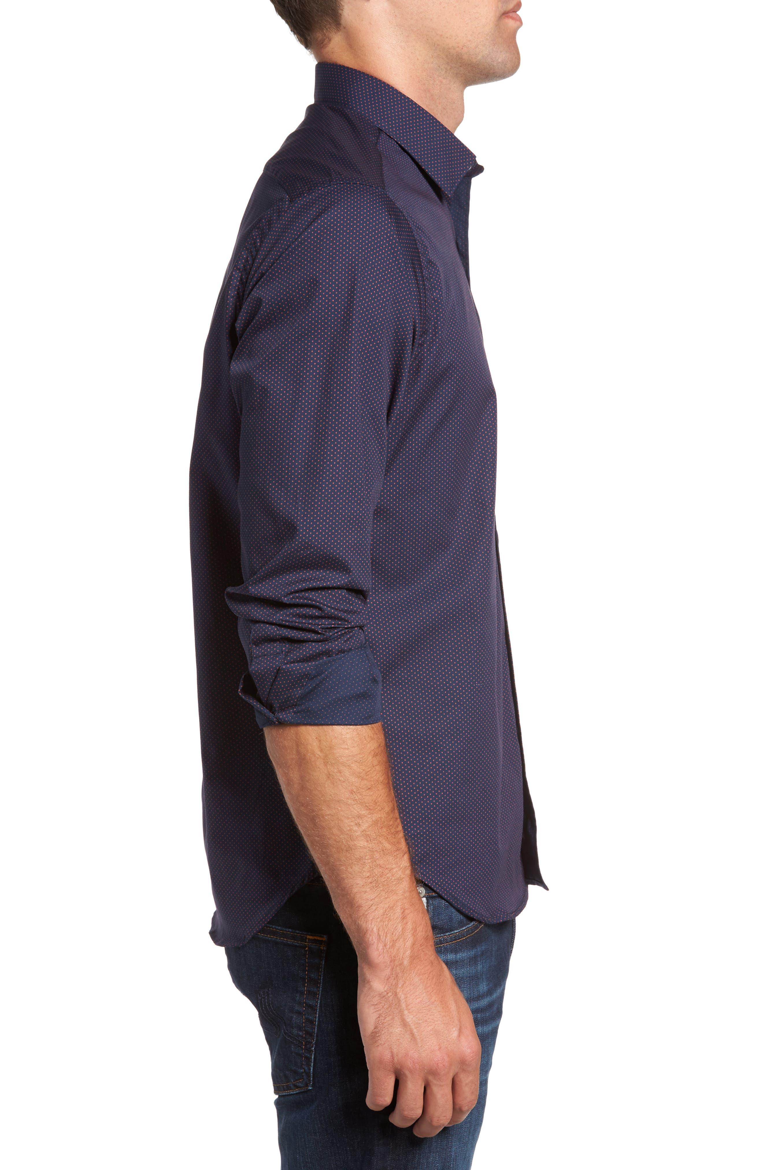 Alternate Image 3  - Jeff Arlington Slim Fit Print Sport Shirt