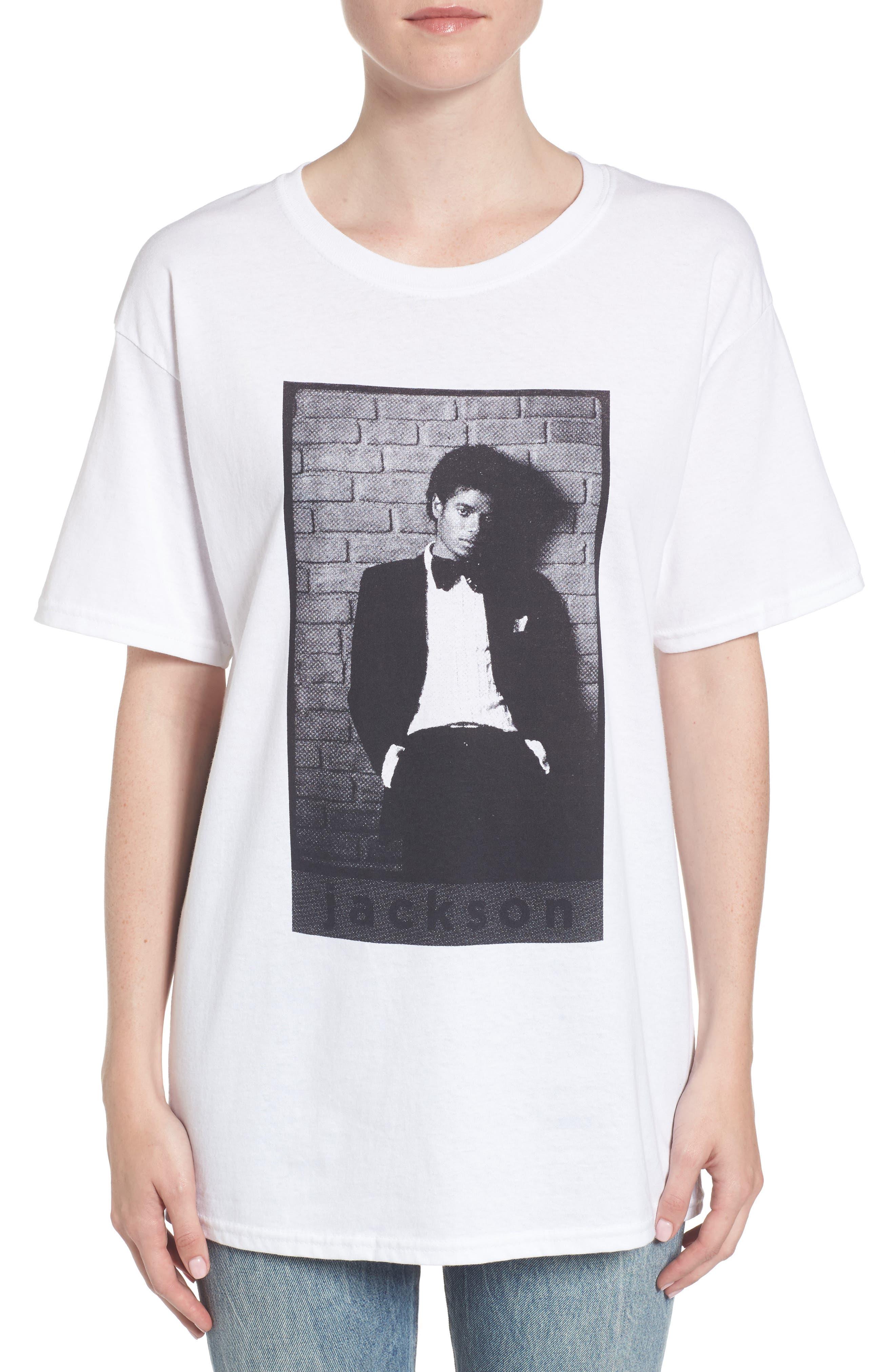 Michael Jackson T-Shirt,                             Alternate thumbnail 2, color,                             White