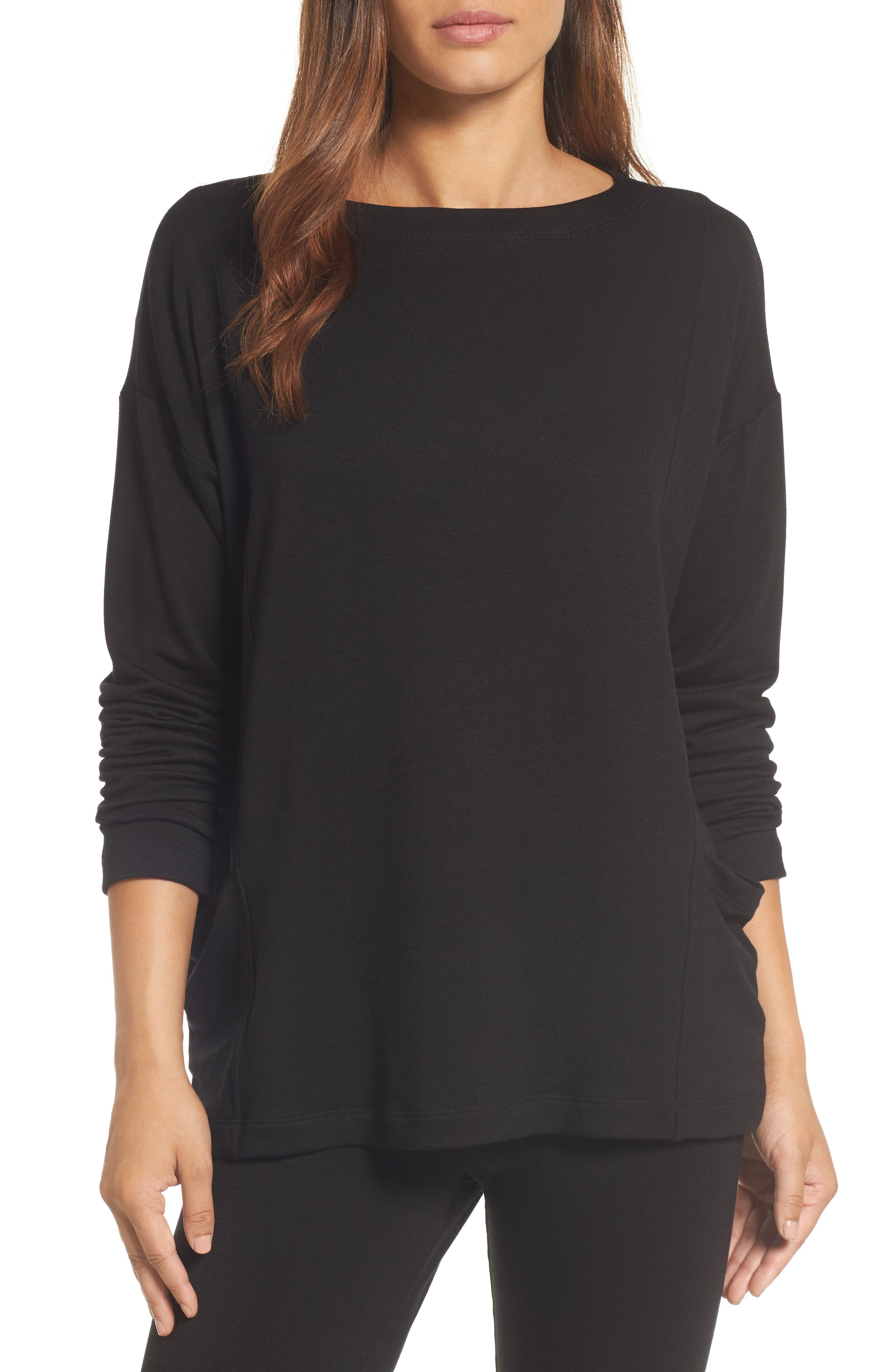 Alternate Image 1 Selected - Eileen Fisher Bateau Neck Sweater