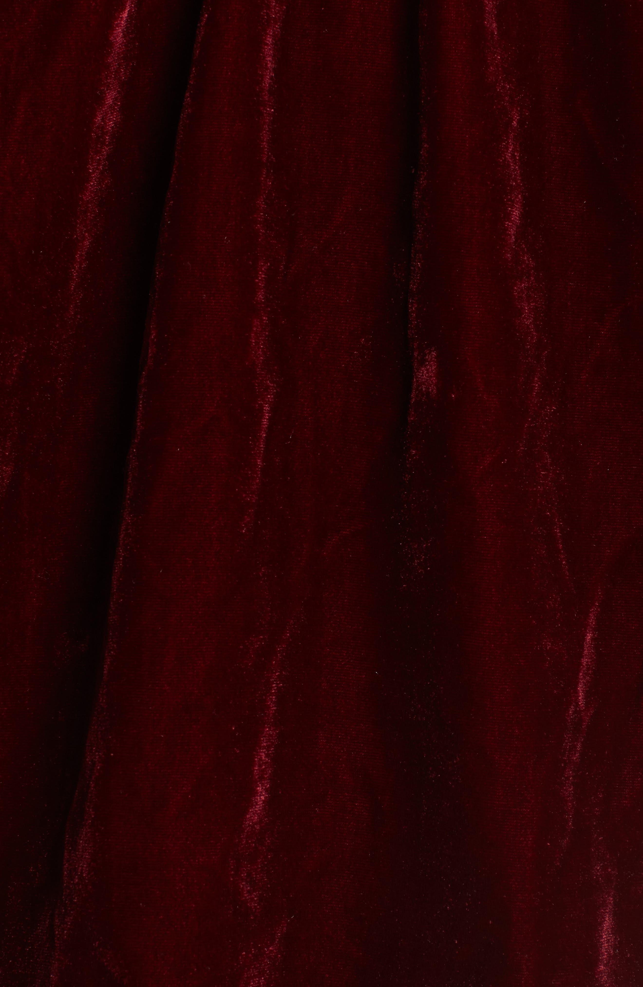 L'Academie Off the Shoulder Velvet Top,                             Alternate thumbnail 6, color,                             Red Velvet